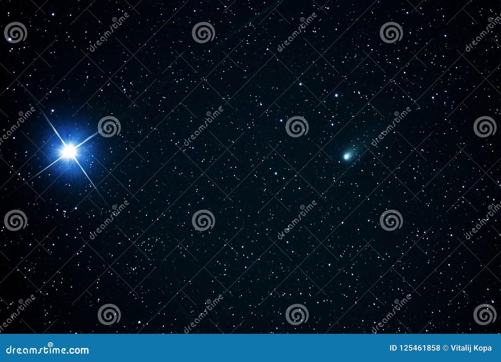 Constellation d Auriga d étoiles de la comète 21P et de la Capella