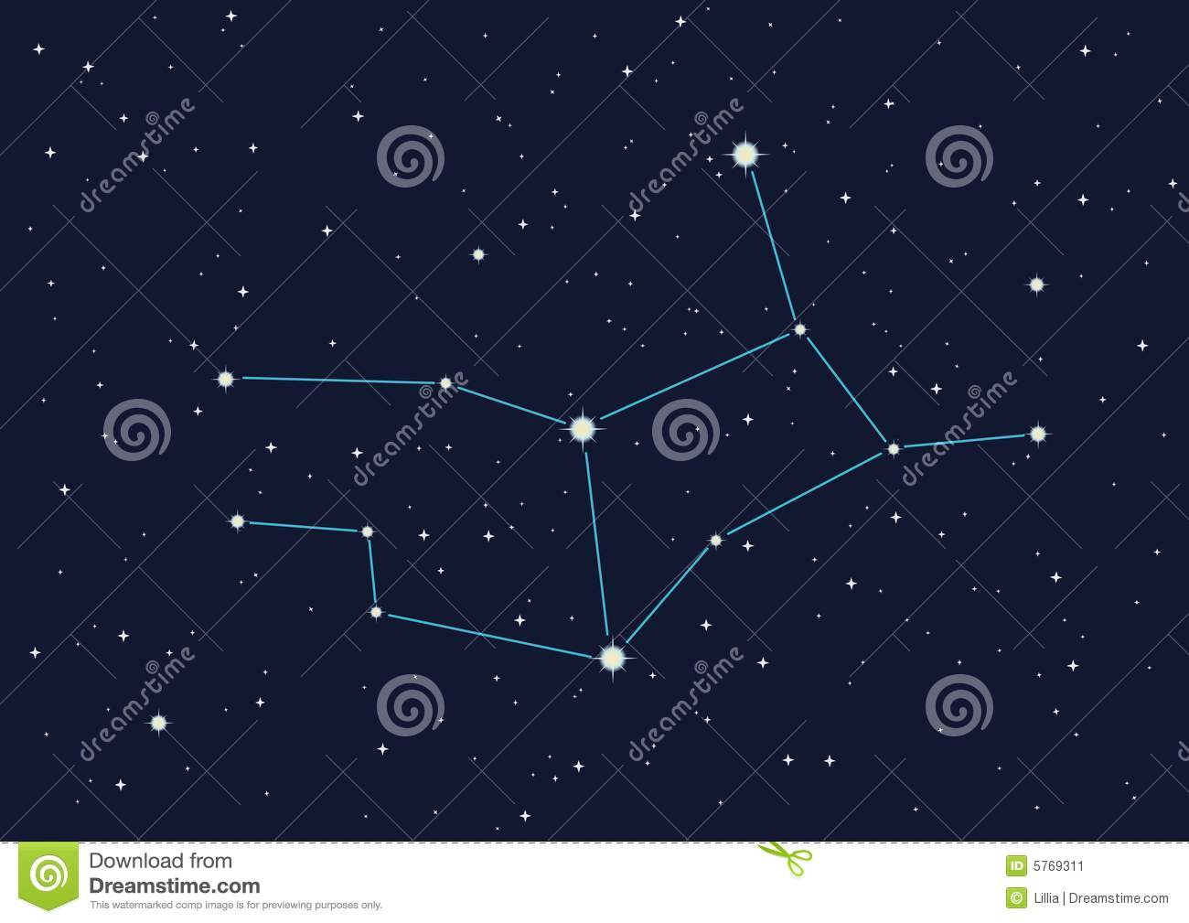 Constellation Virgo Stock Image - Image: 5769311