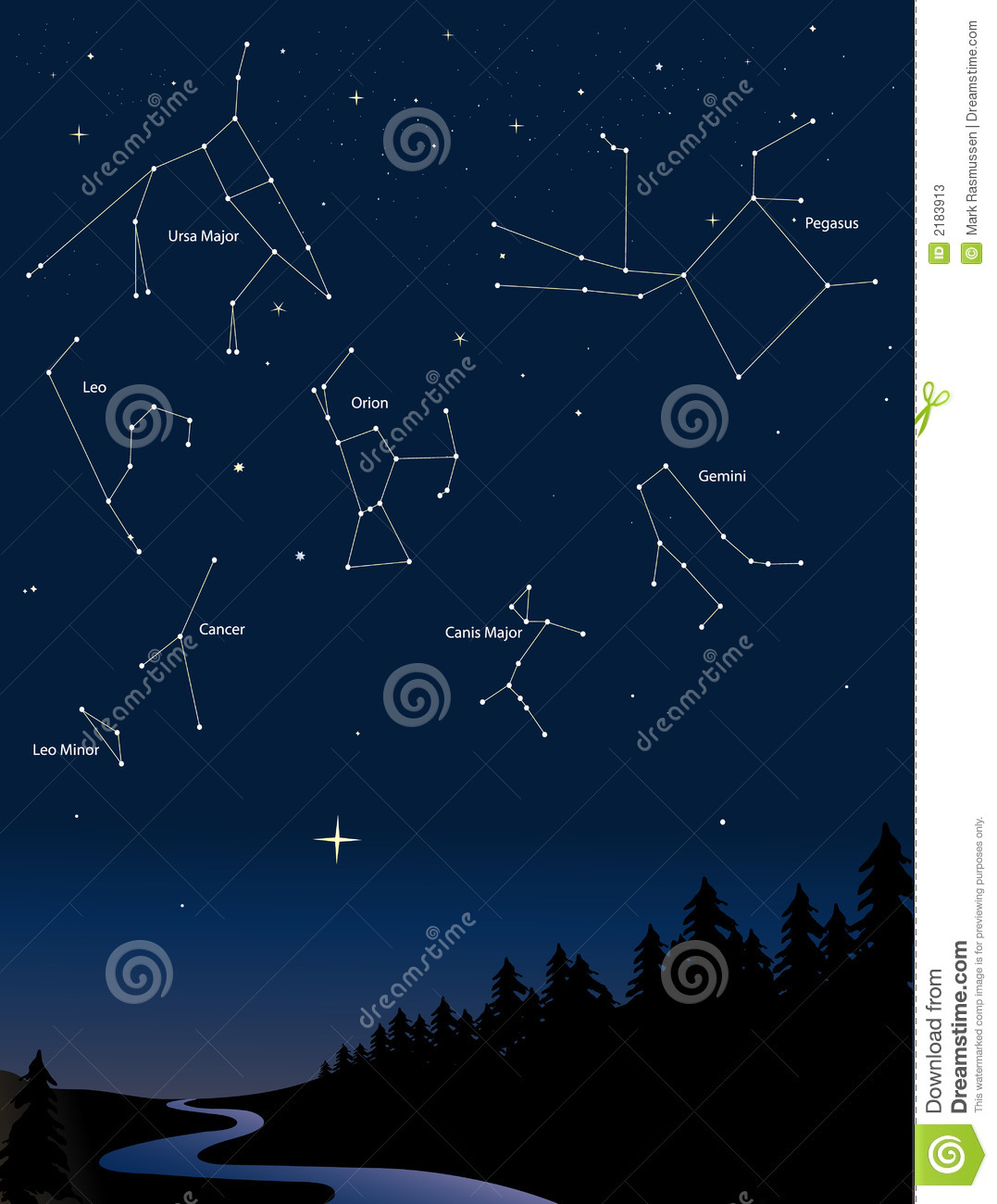 Constellations 1 stock vector. Illustration of astronomy ...