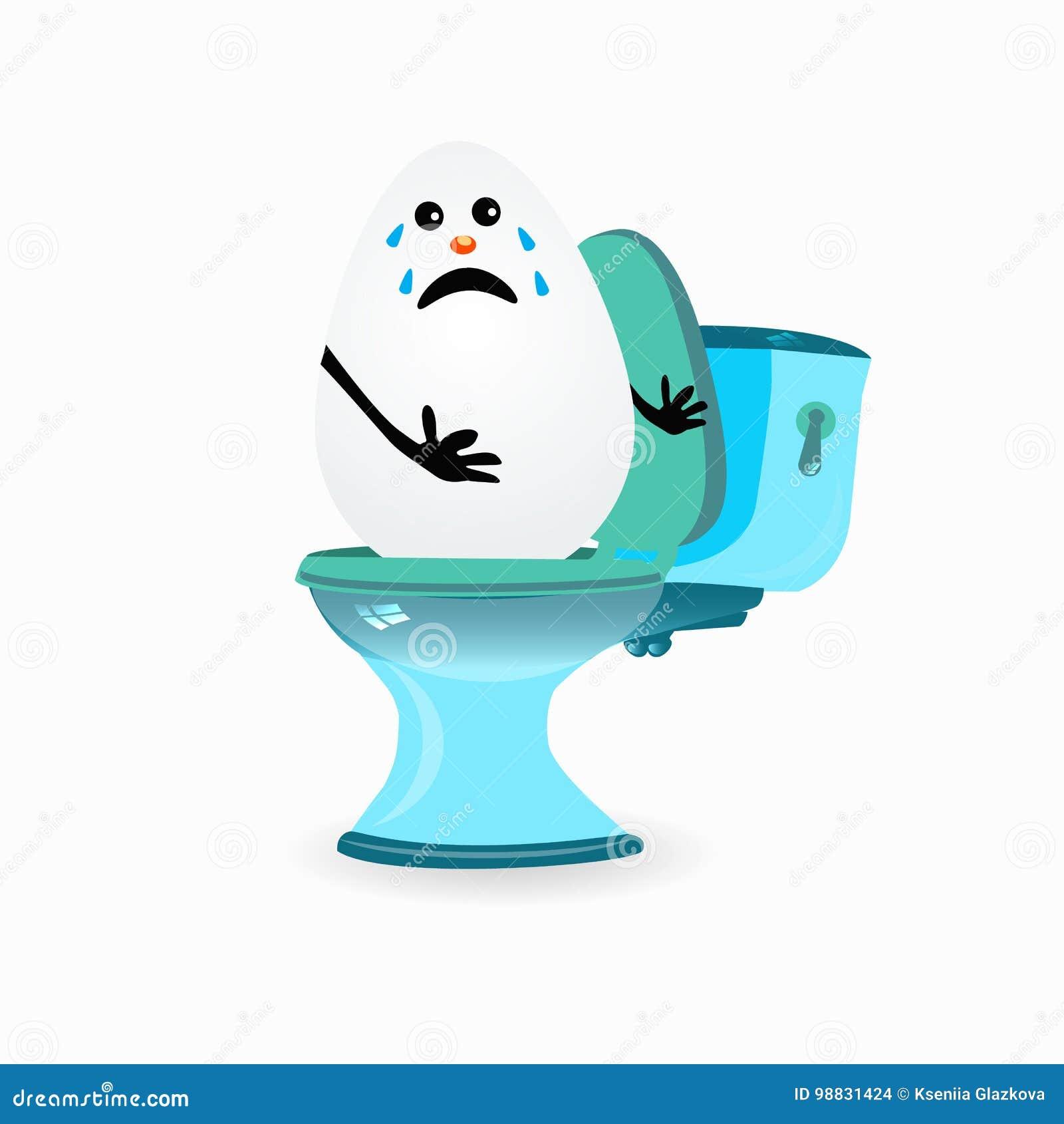 Constipation Concept Funny Egg Cries Stock Illustration Illustration Of Background Room 98831424