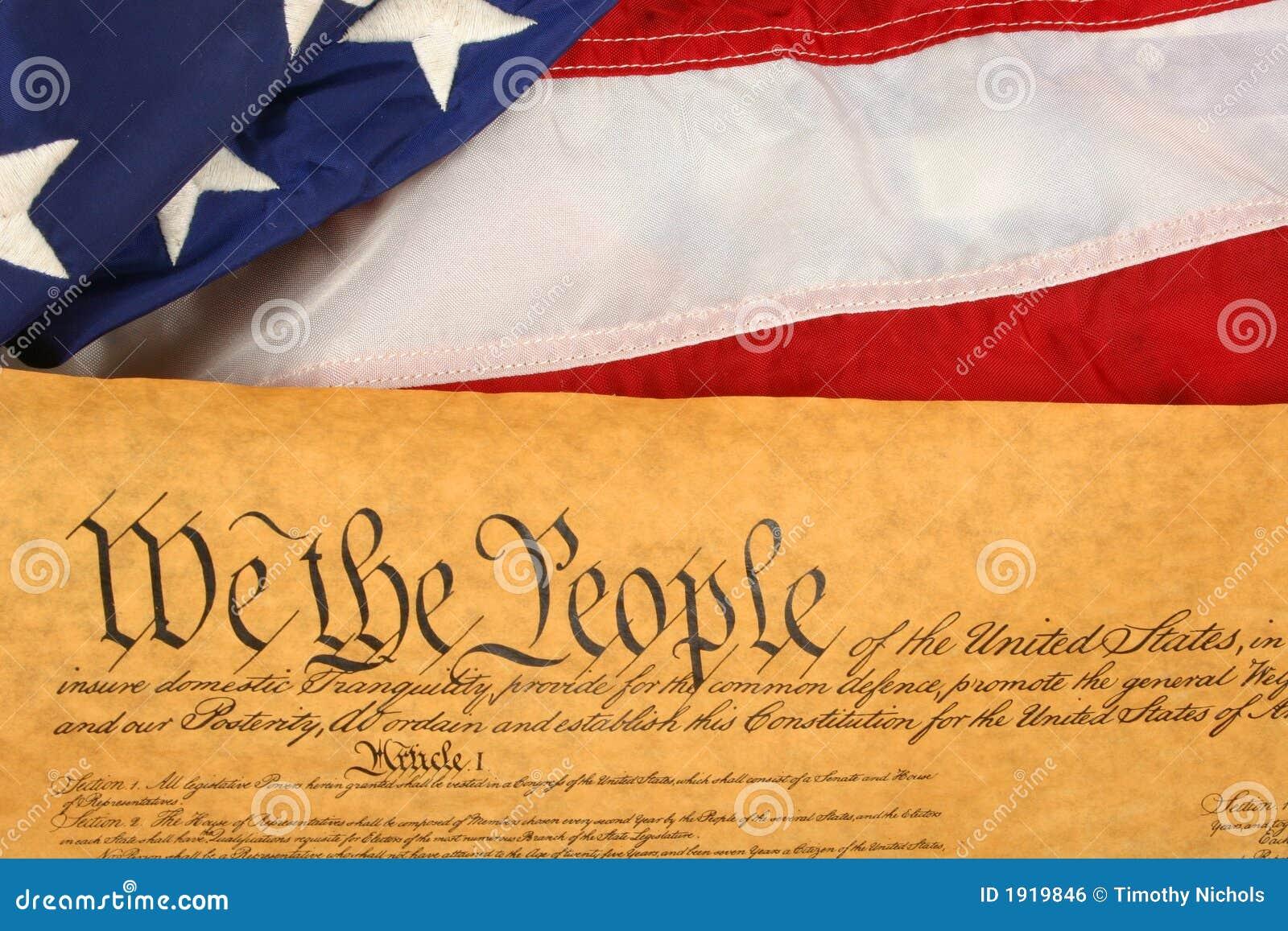 Constituição e bandeira de Estados Unidos -- Orientação da paisagem