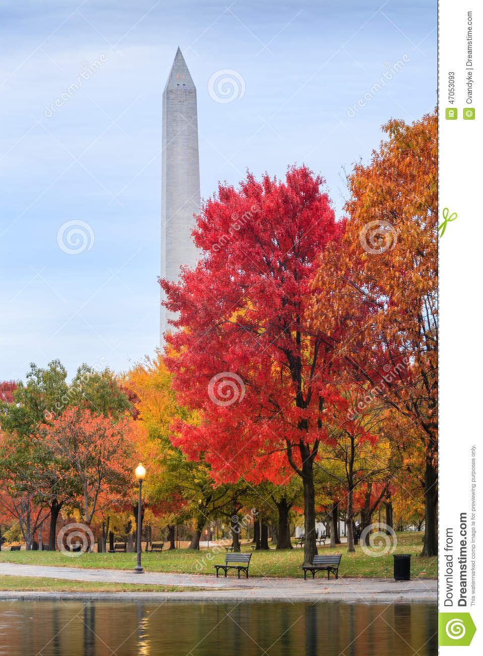 Constitution Gardens Washington Dc In Autumn Stock Image Image Of Vertical National 47053093