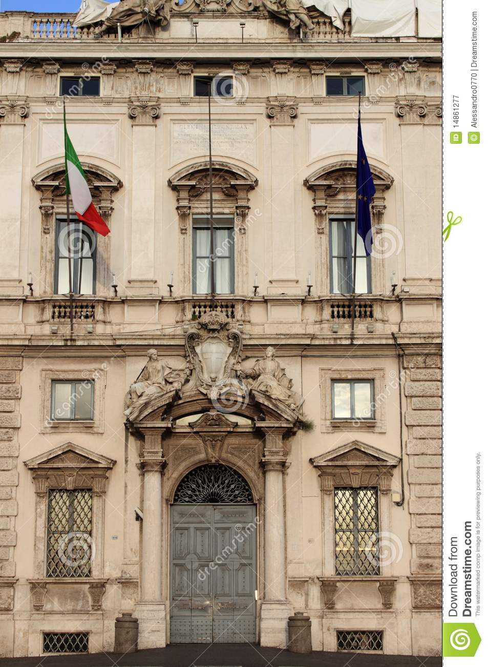 Constitutional Court palace in Rome