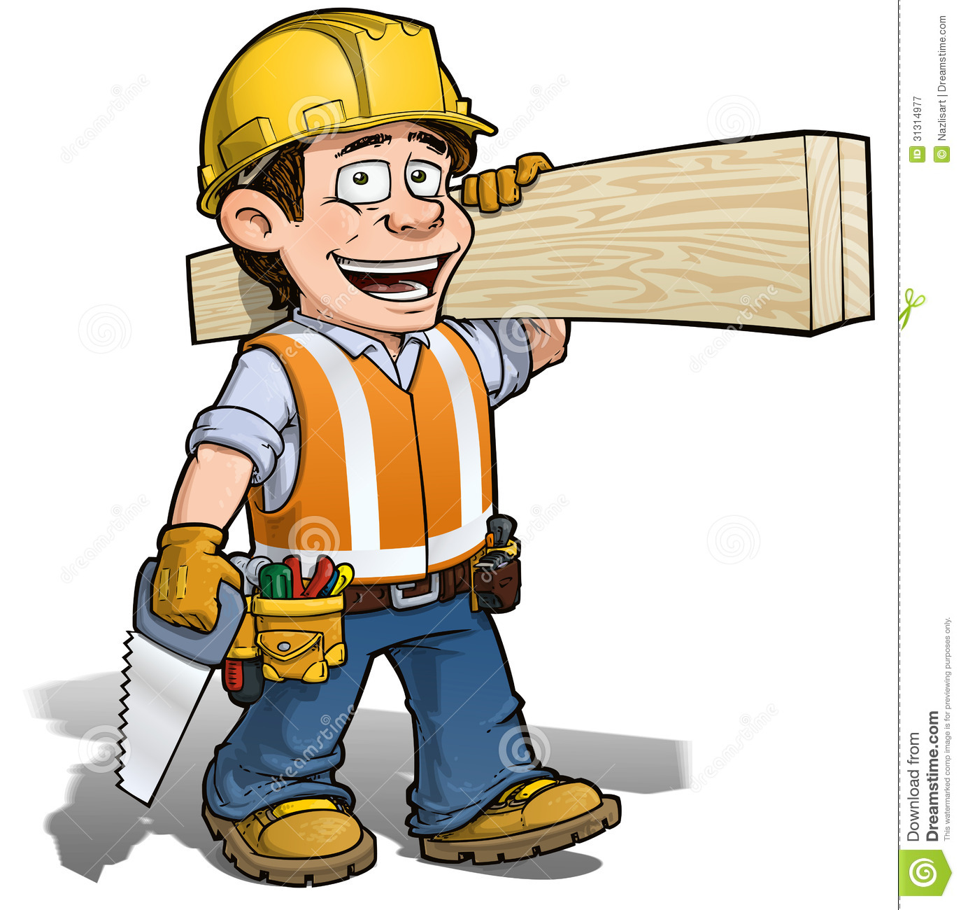 Constraction Worker -- Carpenter Royalty Free Stock Photography ...