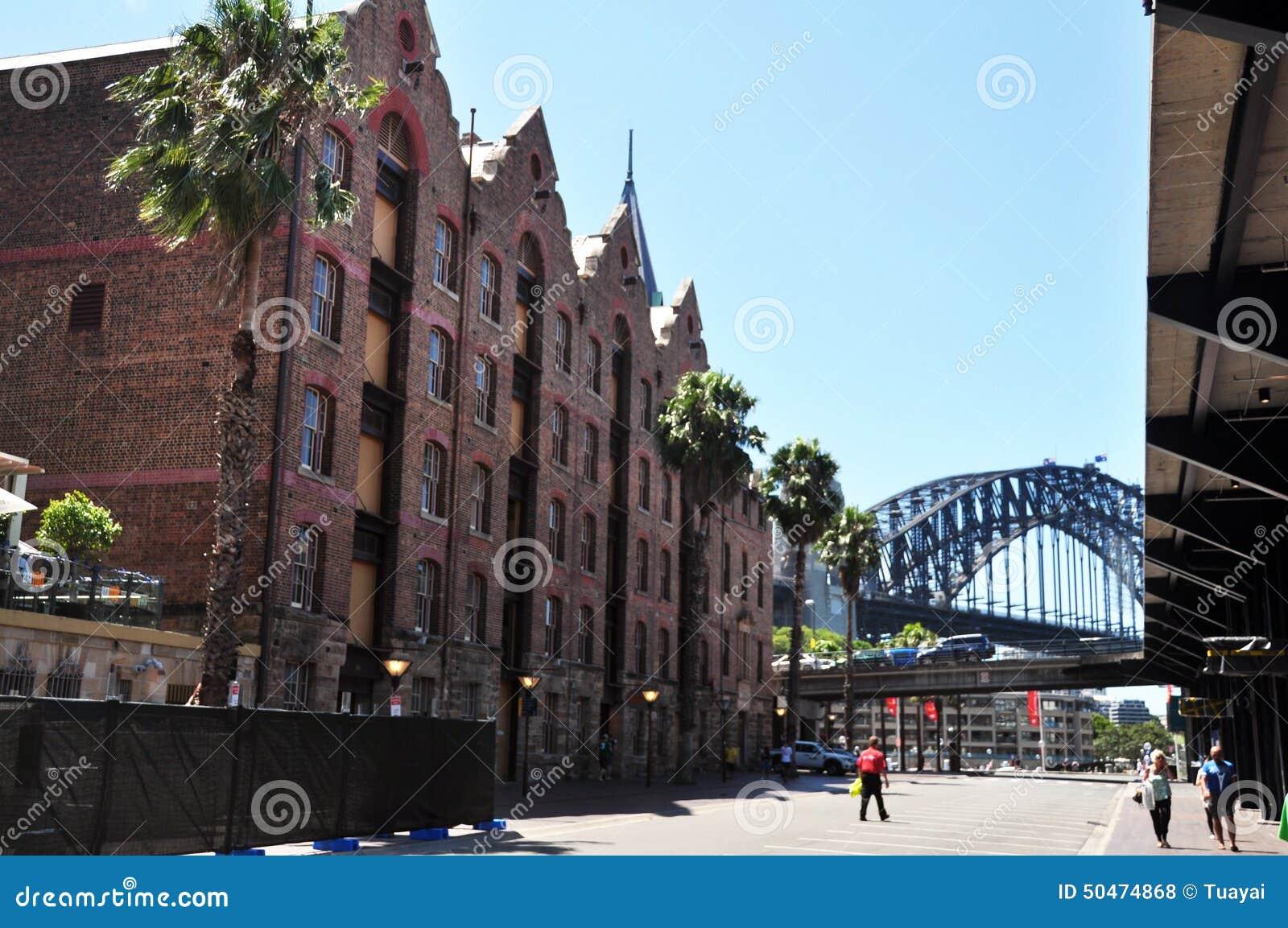 Construção clássica na cidade das rochas em Sydney