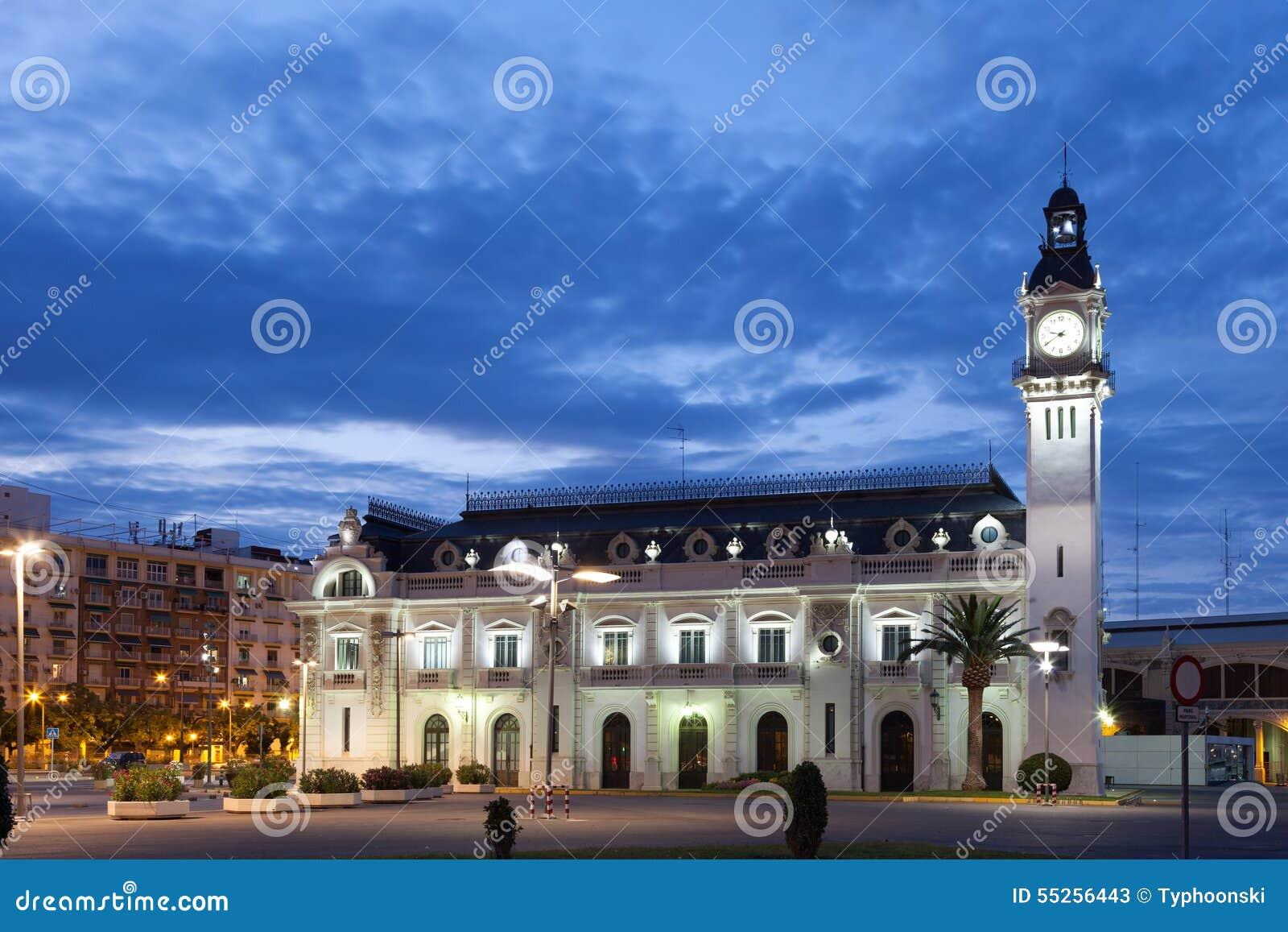 Construção da autoridade portuária em Valência, Espanha