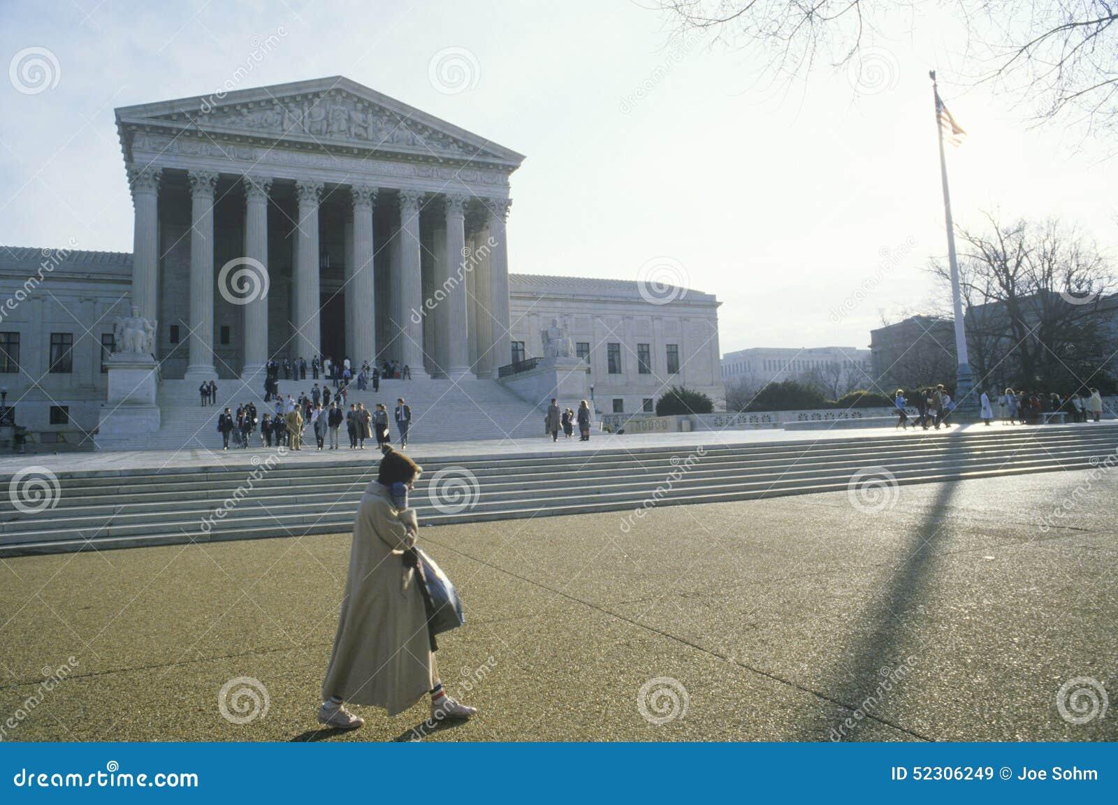 A construção da corte suprema do Estados Unidos, Washington, D C