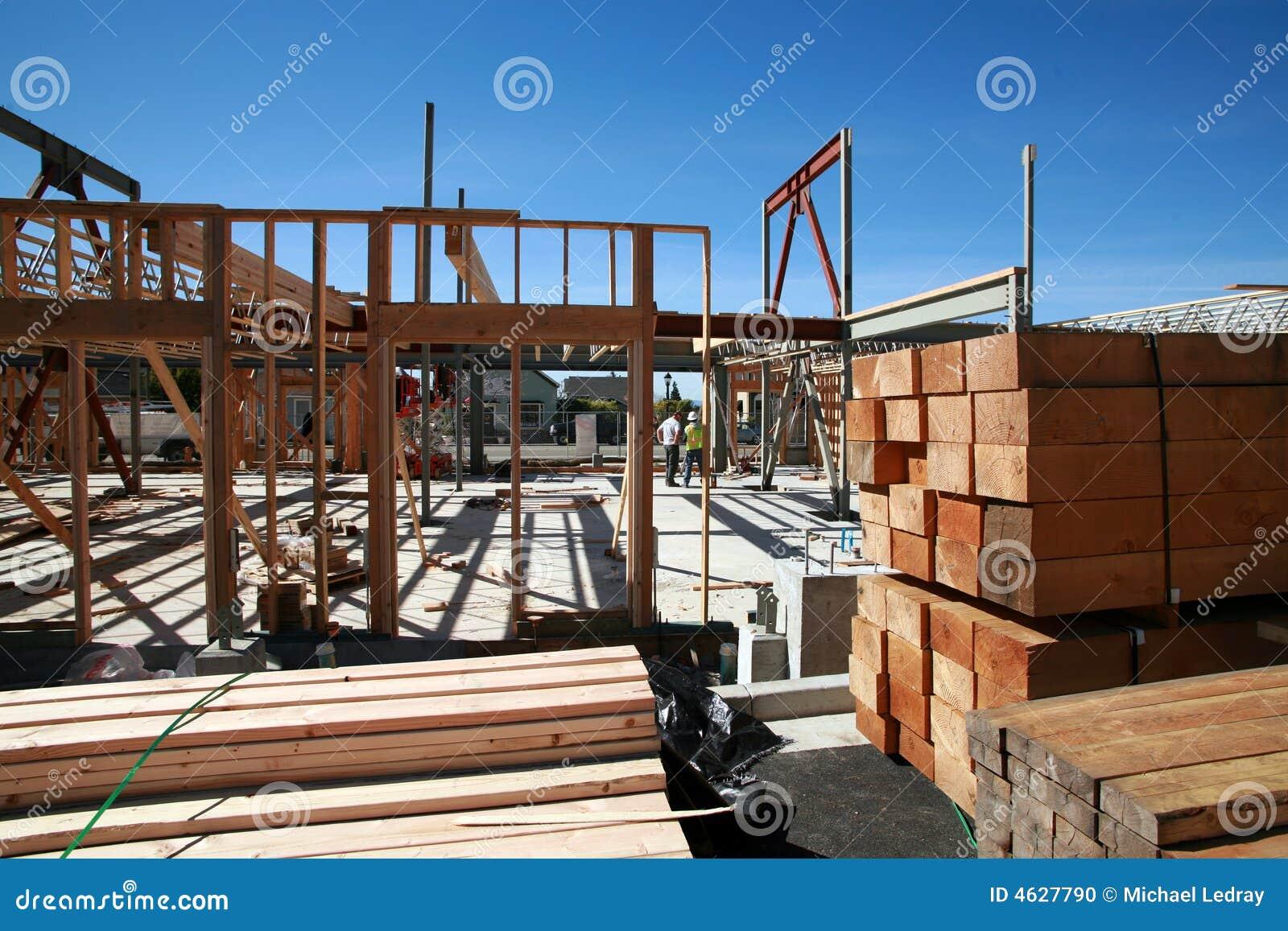 Construção de edifício Home e conceitos do edifício