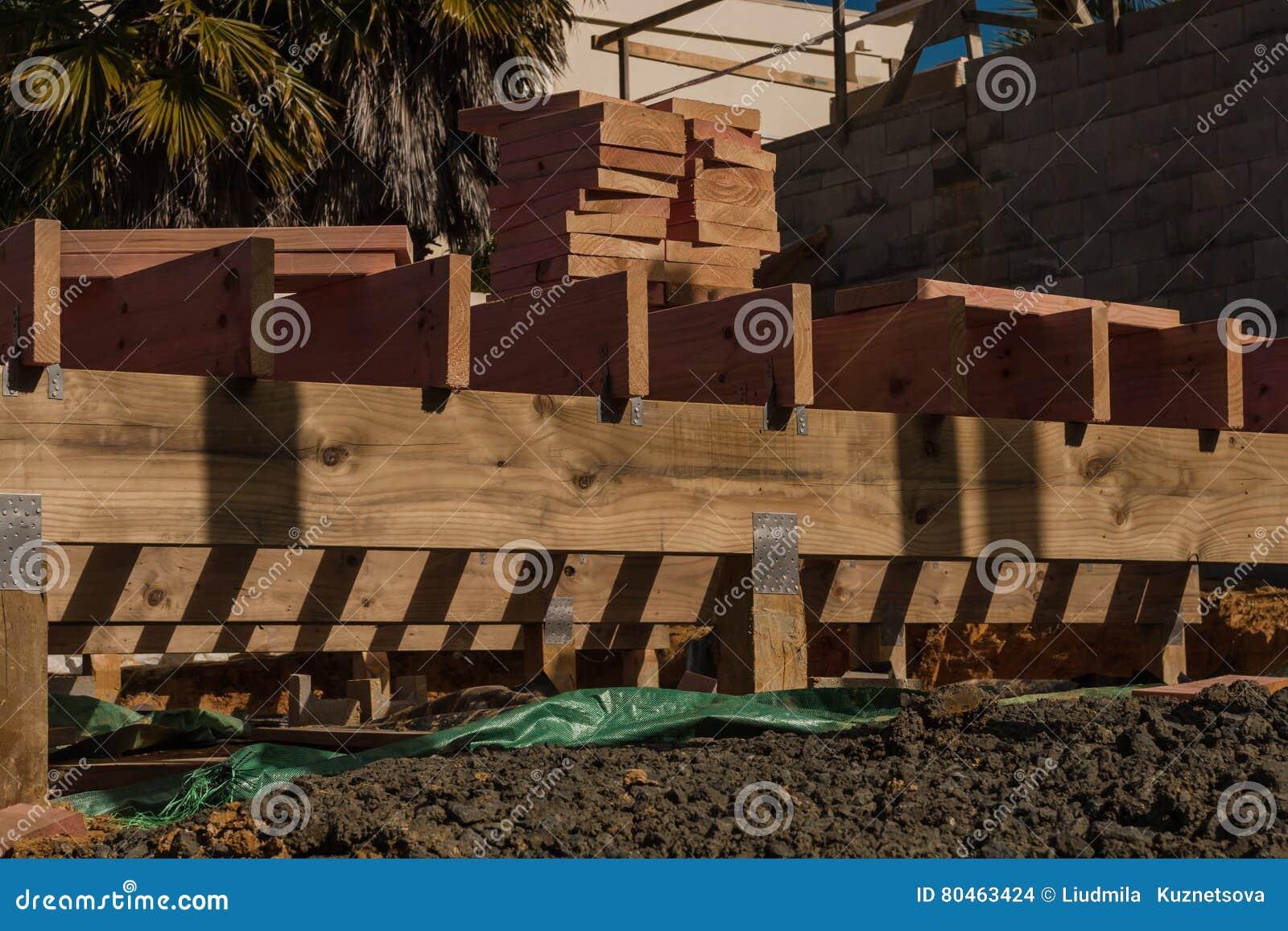 Construção de madeira de casas privadas
