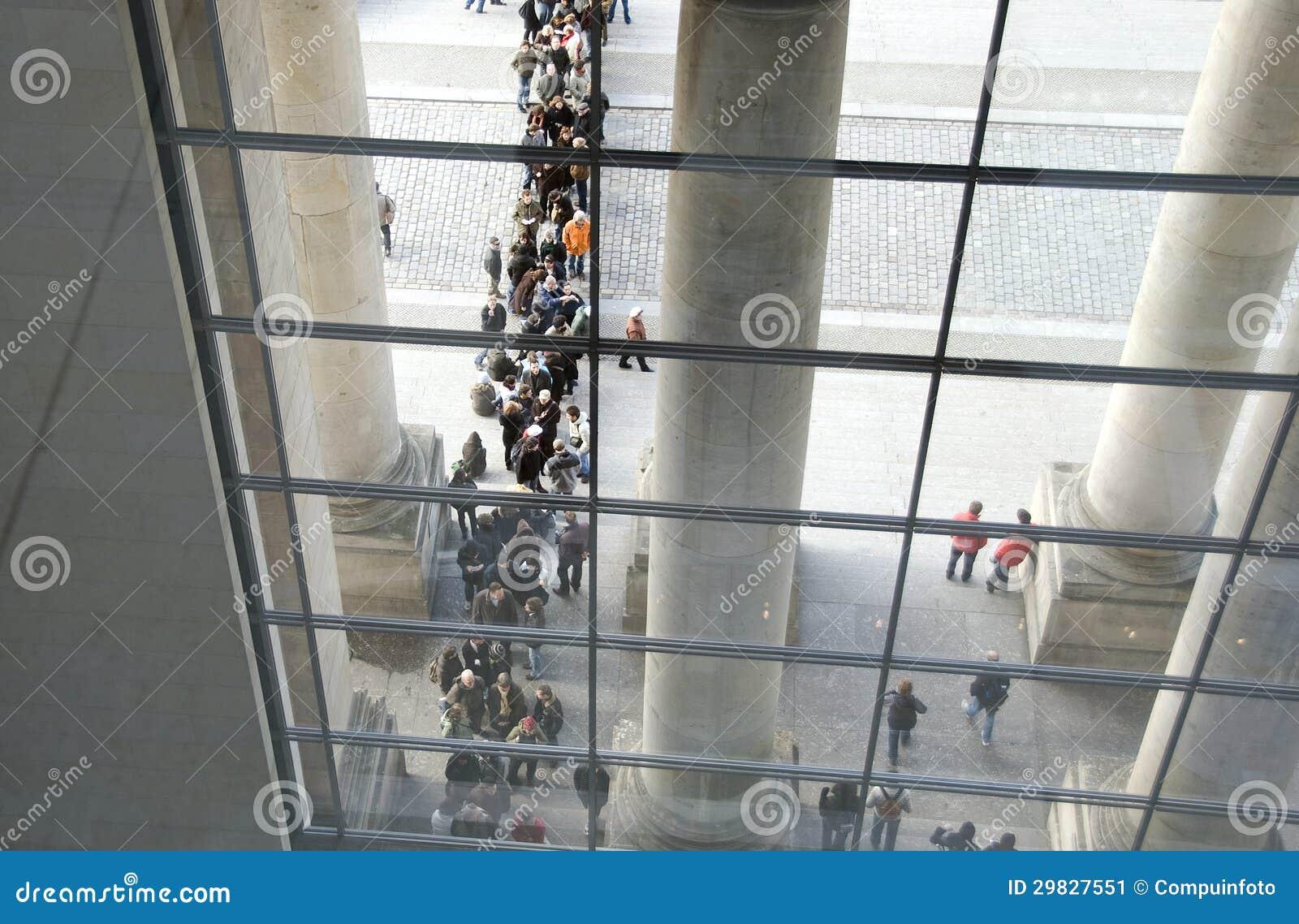 A construção do governo de Berlim do reichstag