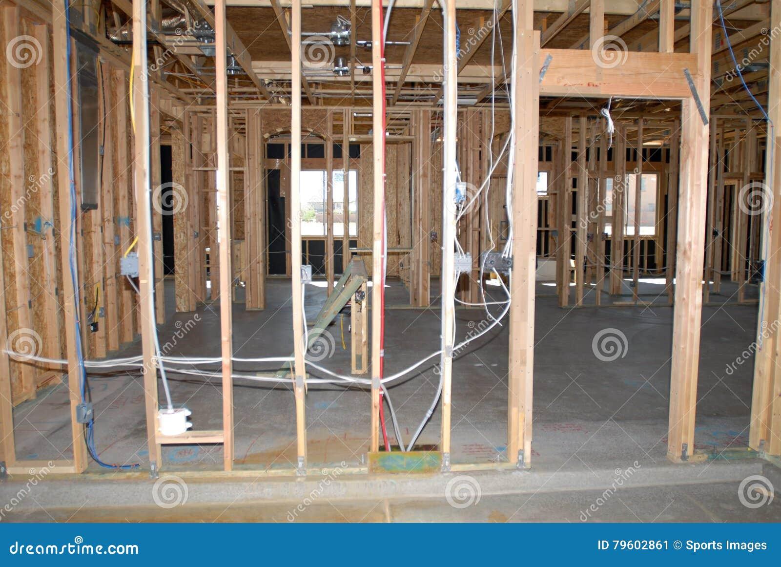 Construção de uma casa nova que está sendo construída