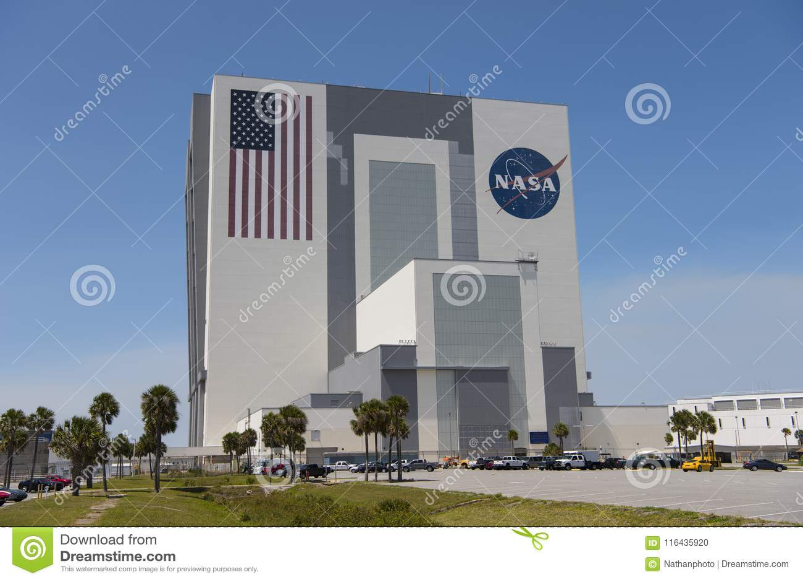 Construção do conjunto do veículo em Kennedy Space Center