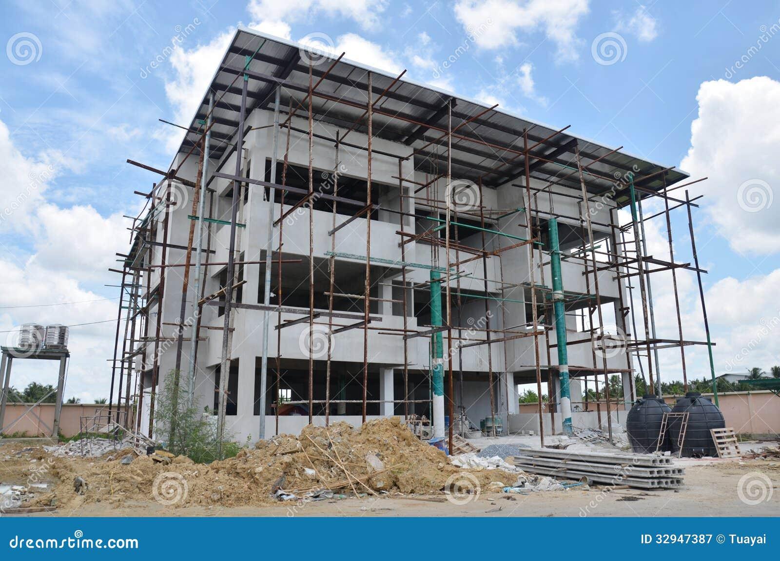 Construção do escritório da construção em Tailândia