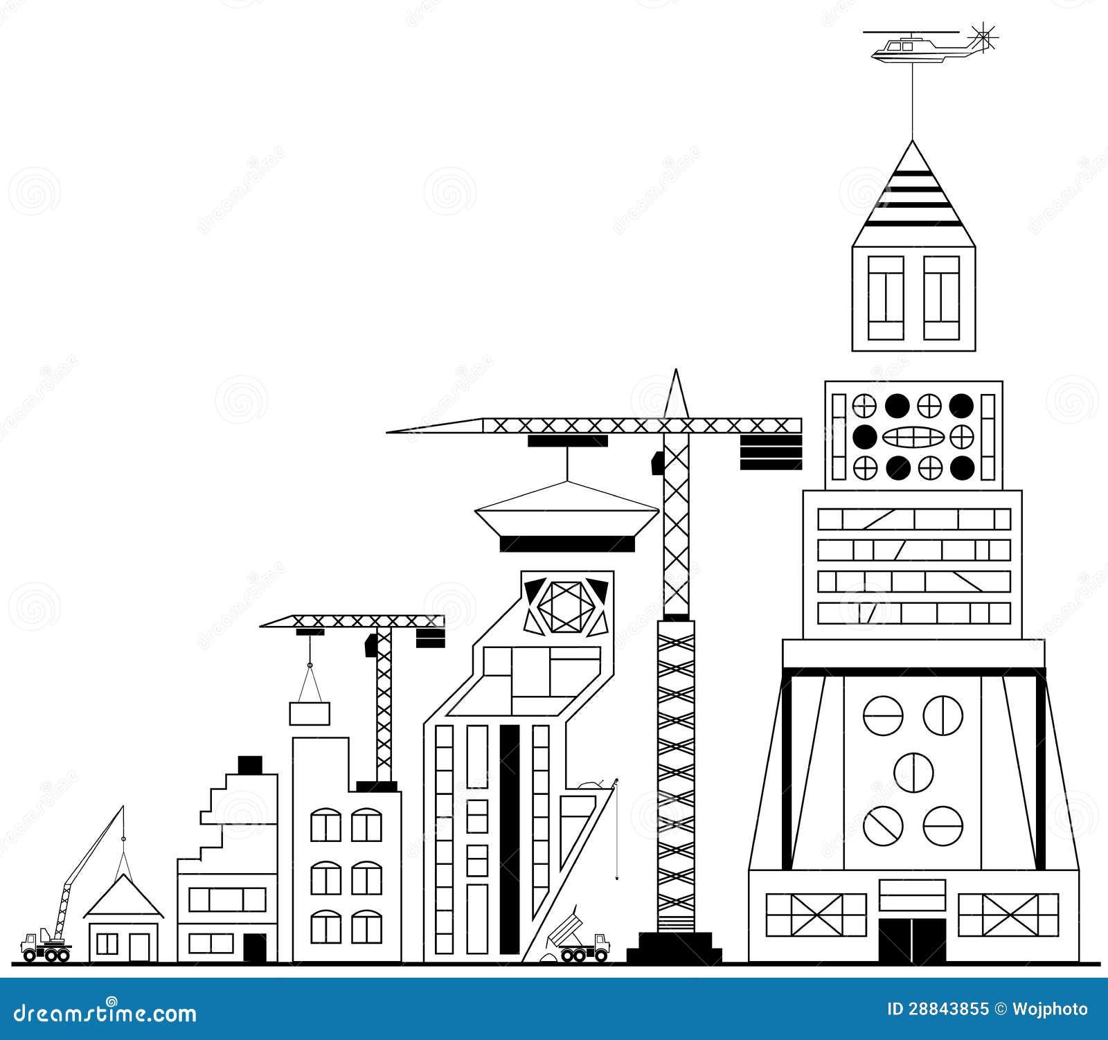 Construção do local sob a construção