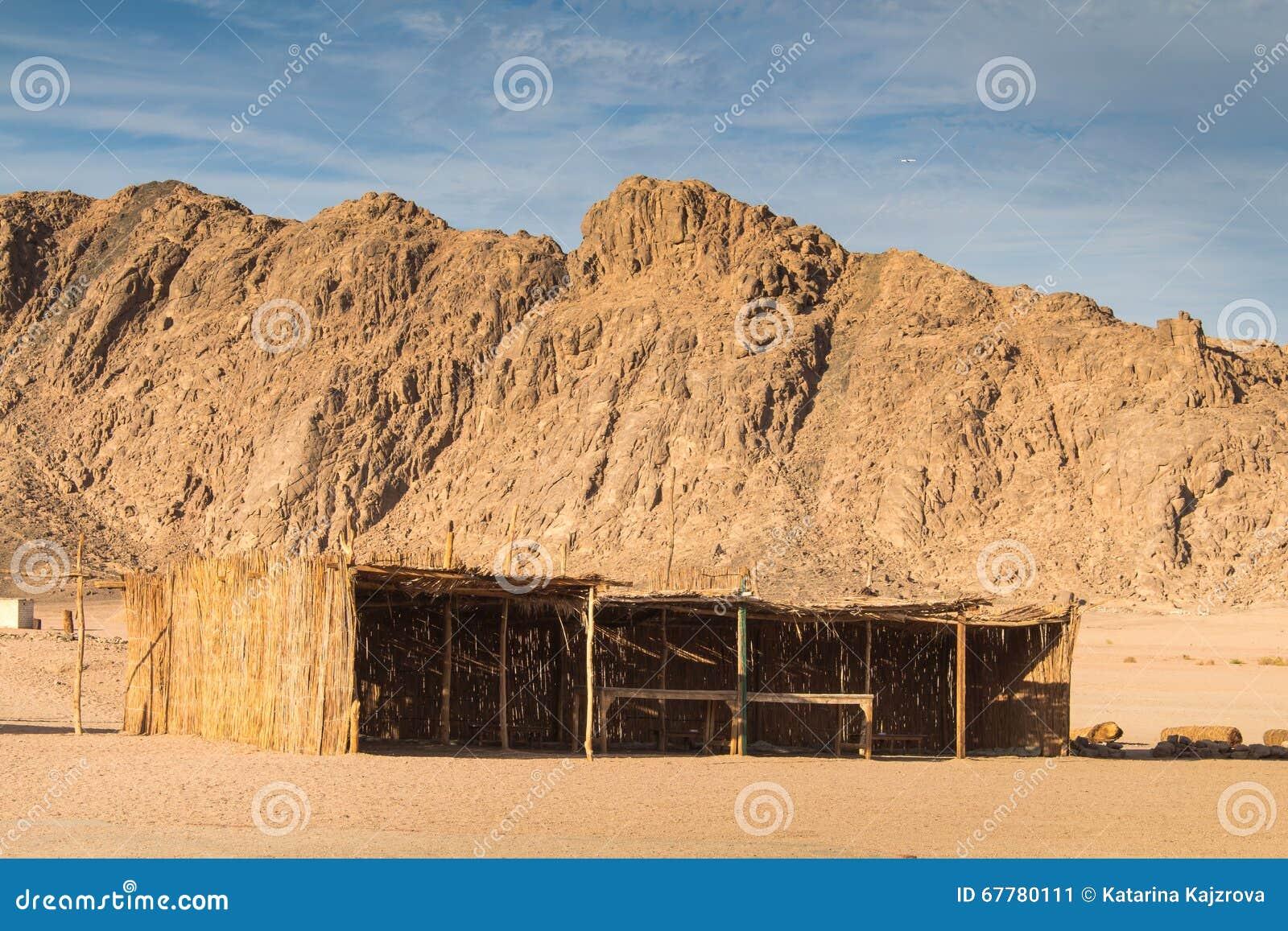 Construção egípcia do deserto e do beduíno