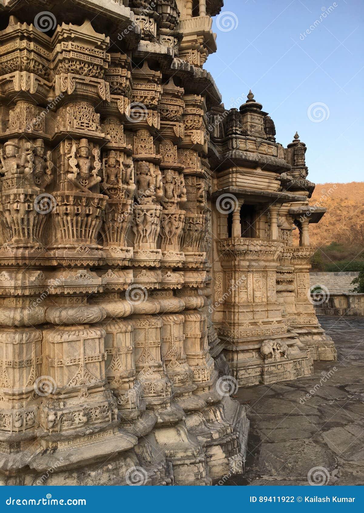 Construção indiana da arquitetura do vintage