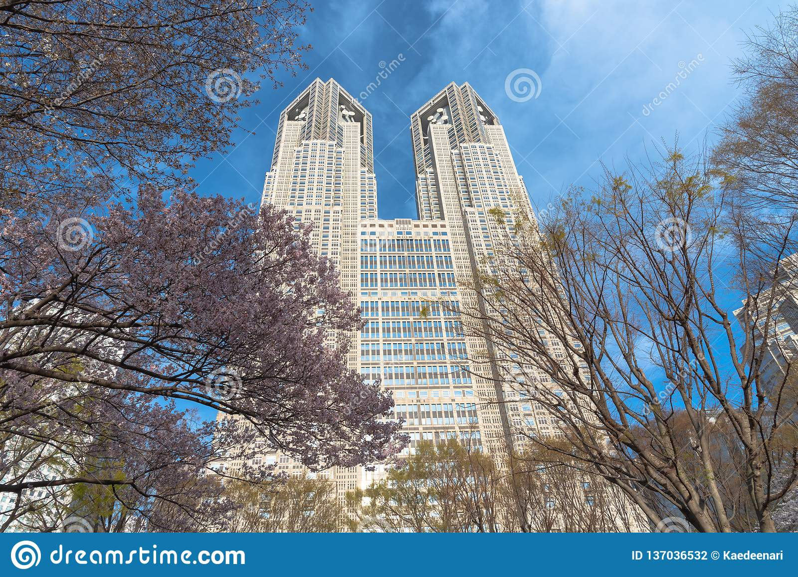Construção metropolitana do governo do Tóquio & de negócio de Shinjuku construções do marco