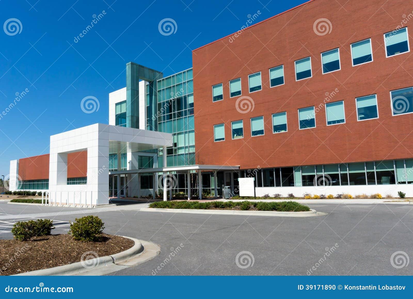 Construção moderna do centro médico
