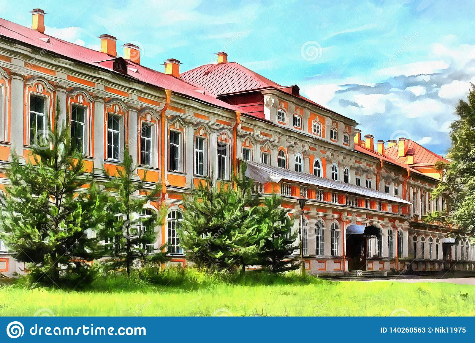 Construção na trindade santamente Alexander Nevsky Lavra