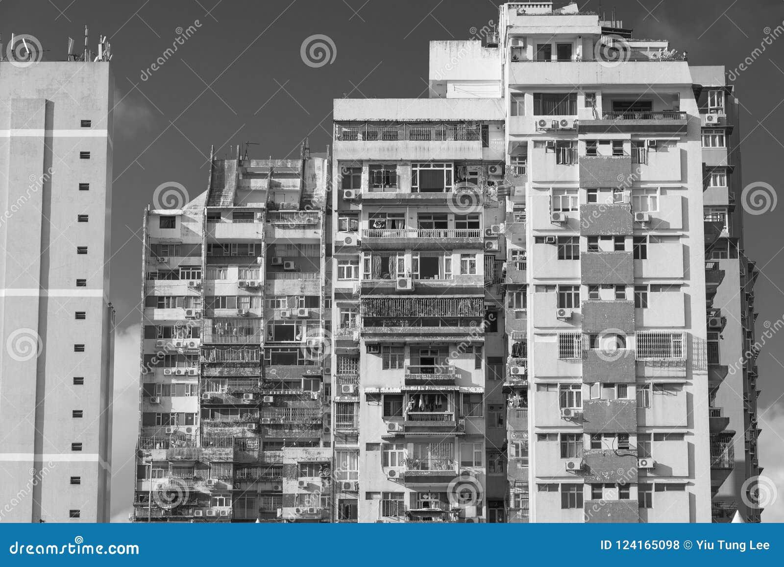 Construção residencial aglomerada em Macau