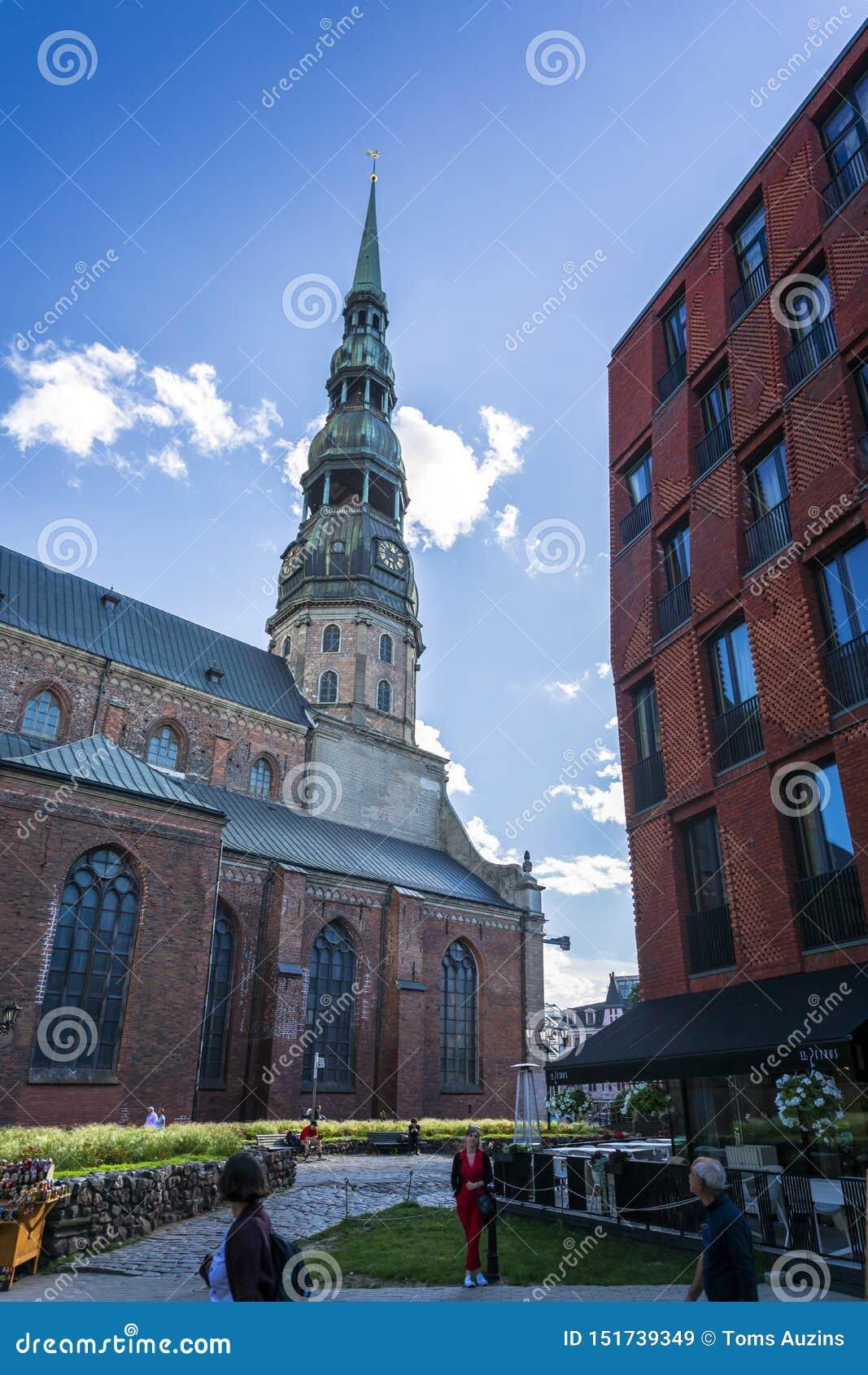Construções históricas em Riga velho