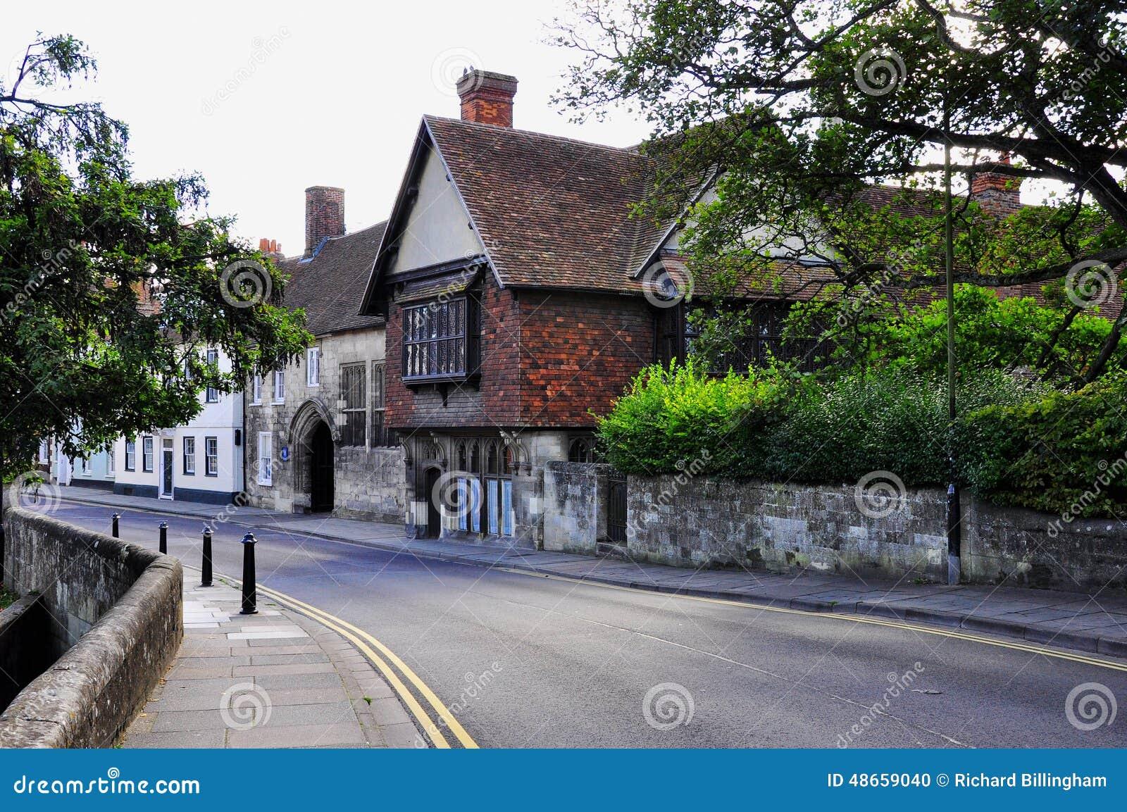 Construções históricas, Salisbúria, Wiltshire, Inglaterra