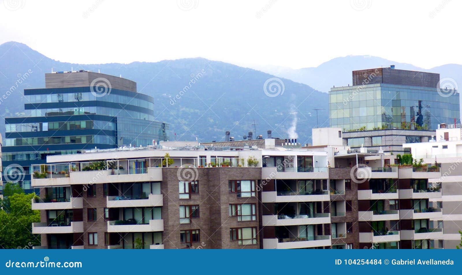Construções no Santiago do Chile