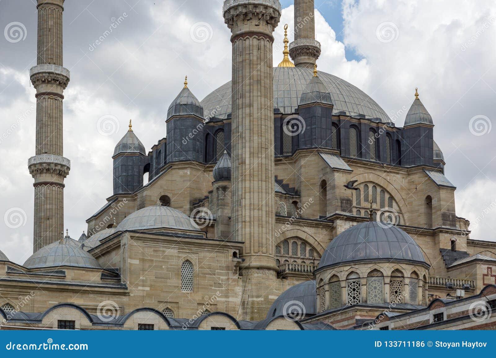 Construído entre a mesquita 1569 e 1575 de Selimiye na cidade de Edirne, Thrace do leste, Turquia