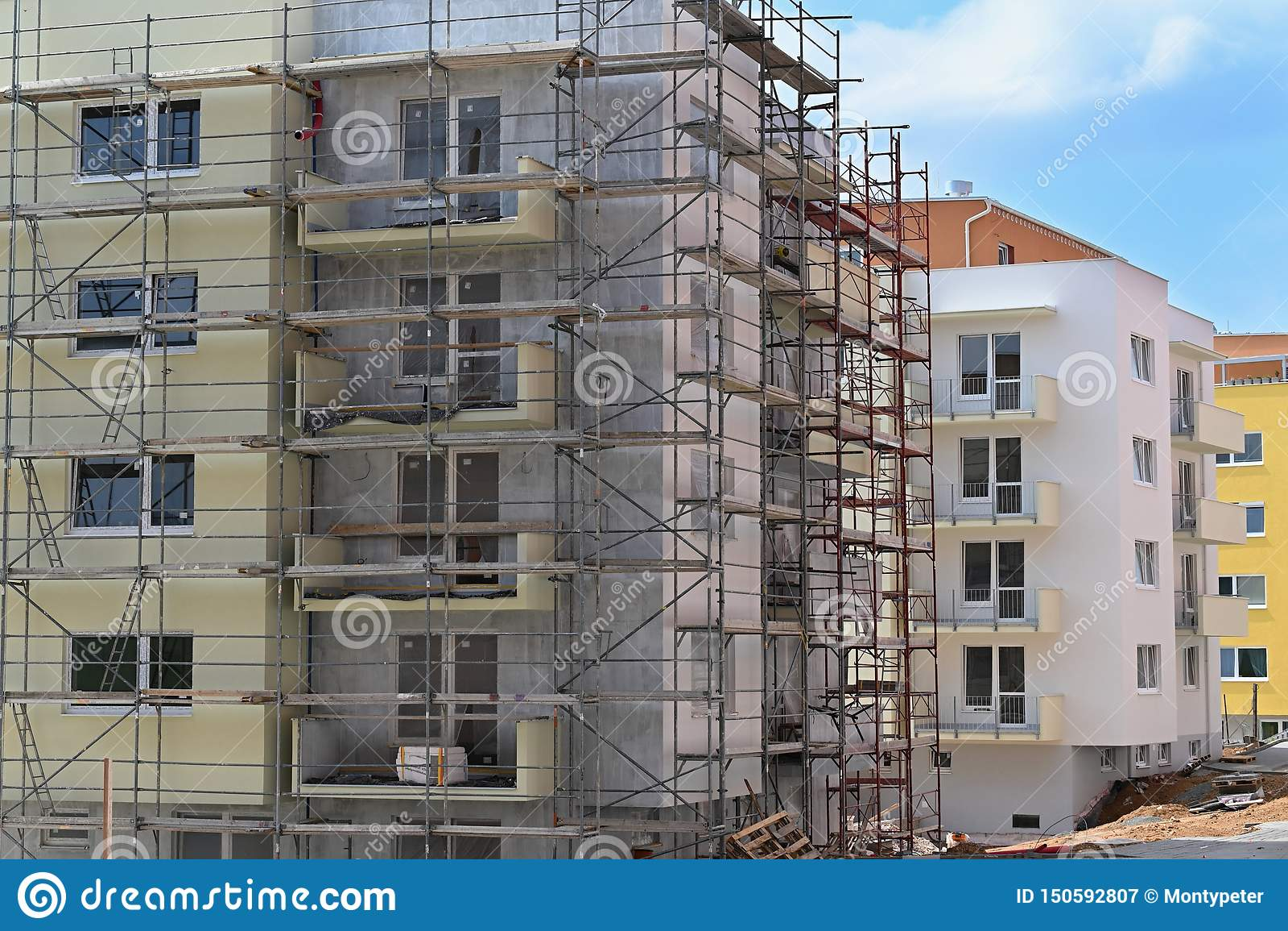 Constru??o de edif?cios novos Fundo bonito para a ind?stria da constru??o civil