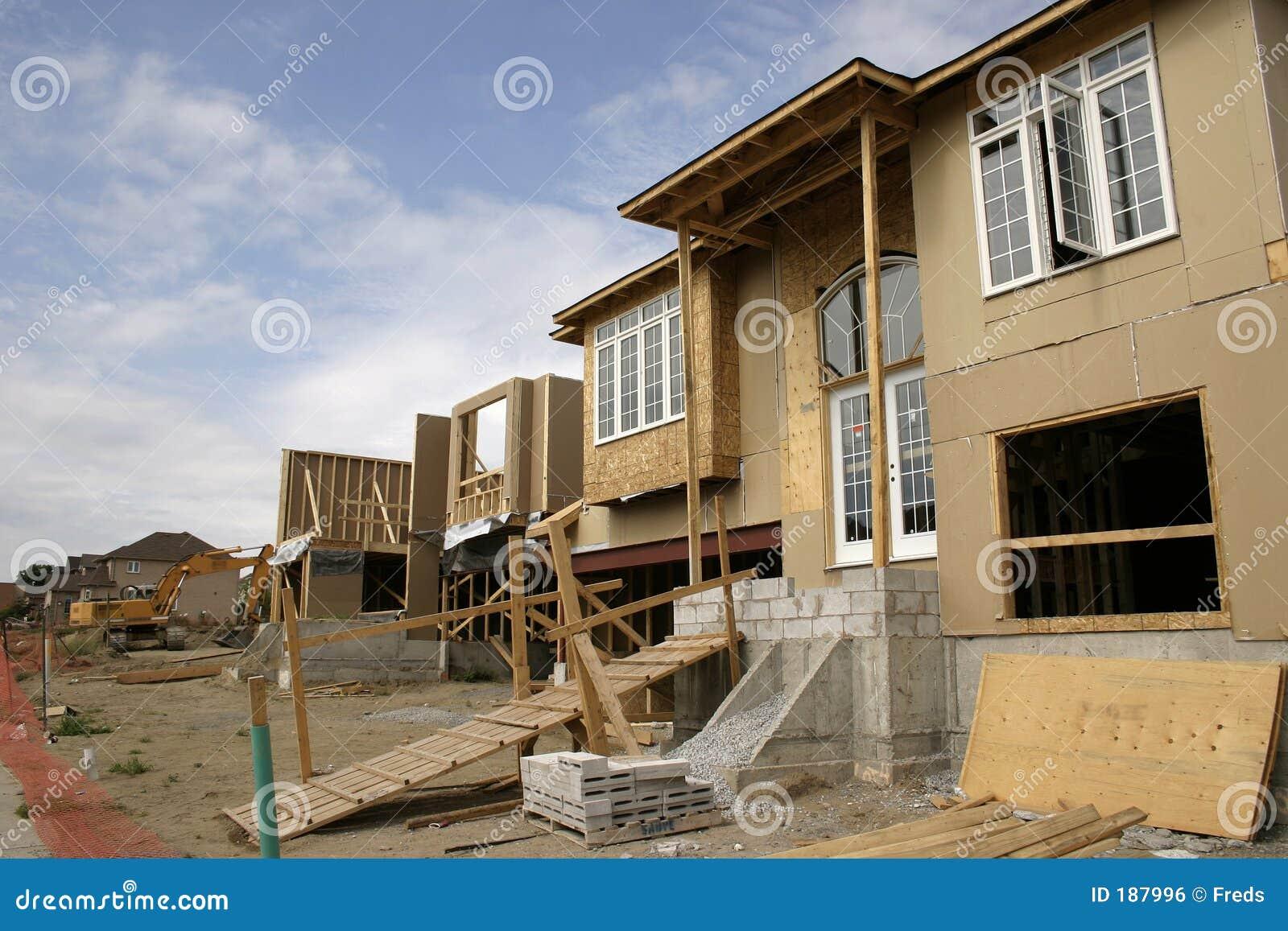 Construcción - casas del edificio