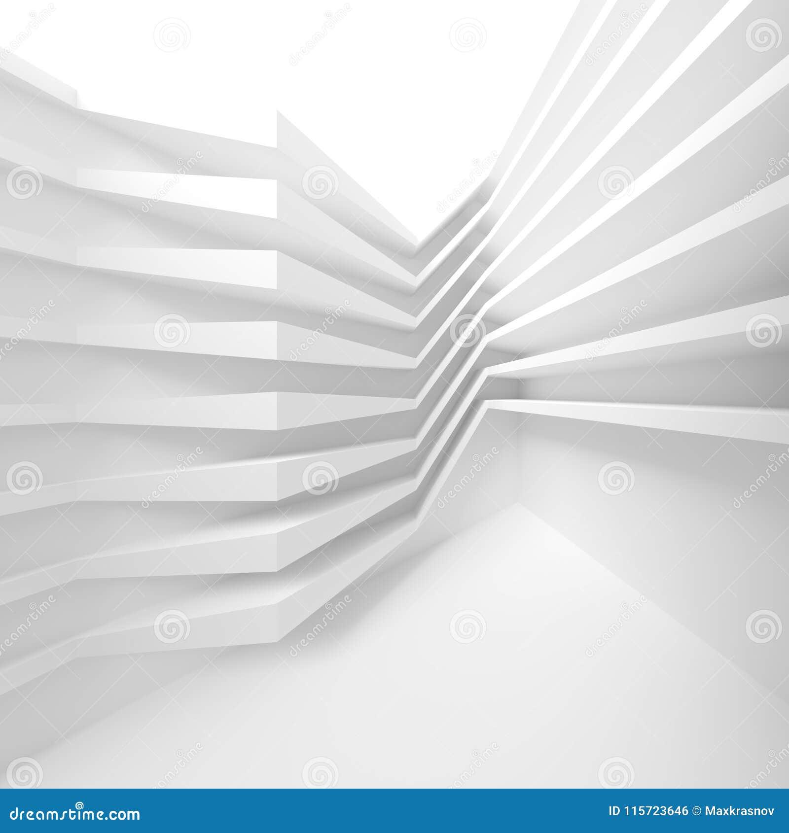 Construcción de edificios blanca Abstraiga el fondo de la configuración M