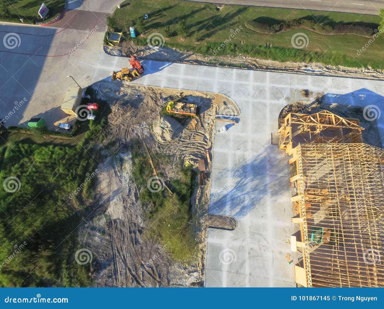 Construcción de edificios comercial de la casa de madera aérea
