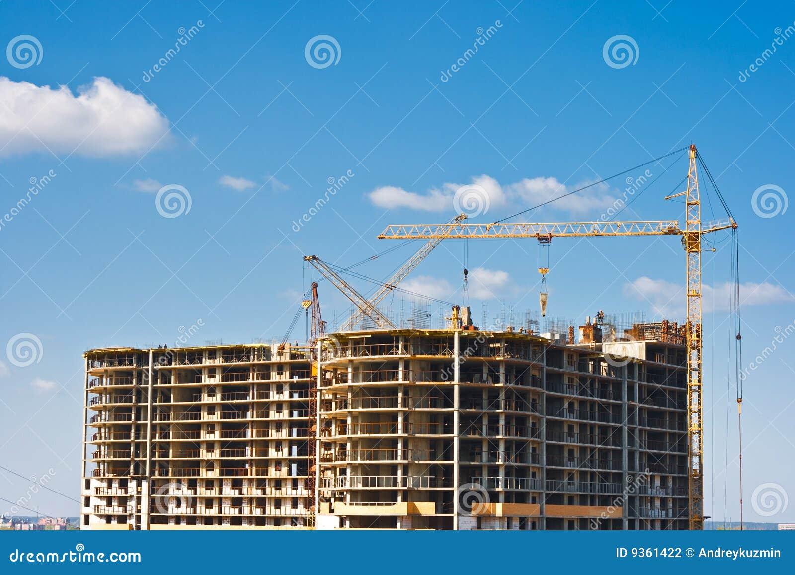 Construcci n de edificios de varios pisos fotograf a de for Videos de construccion de edificios