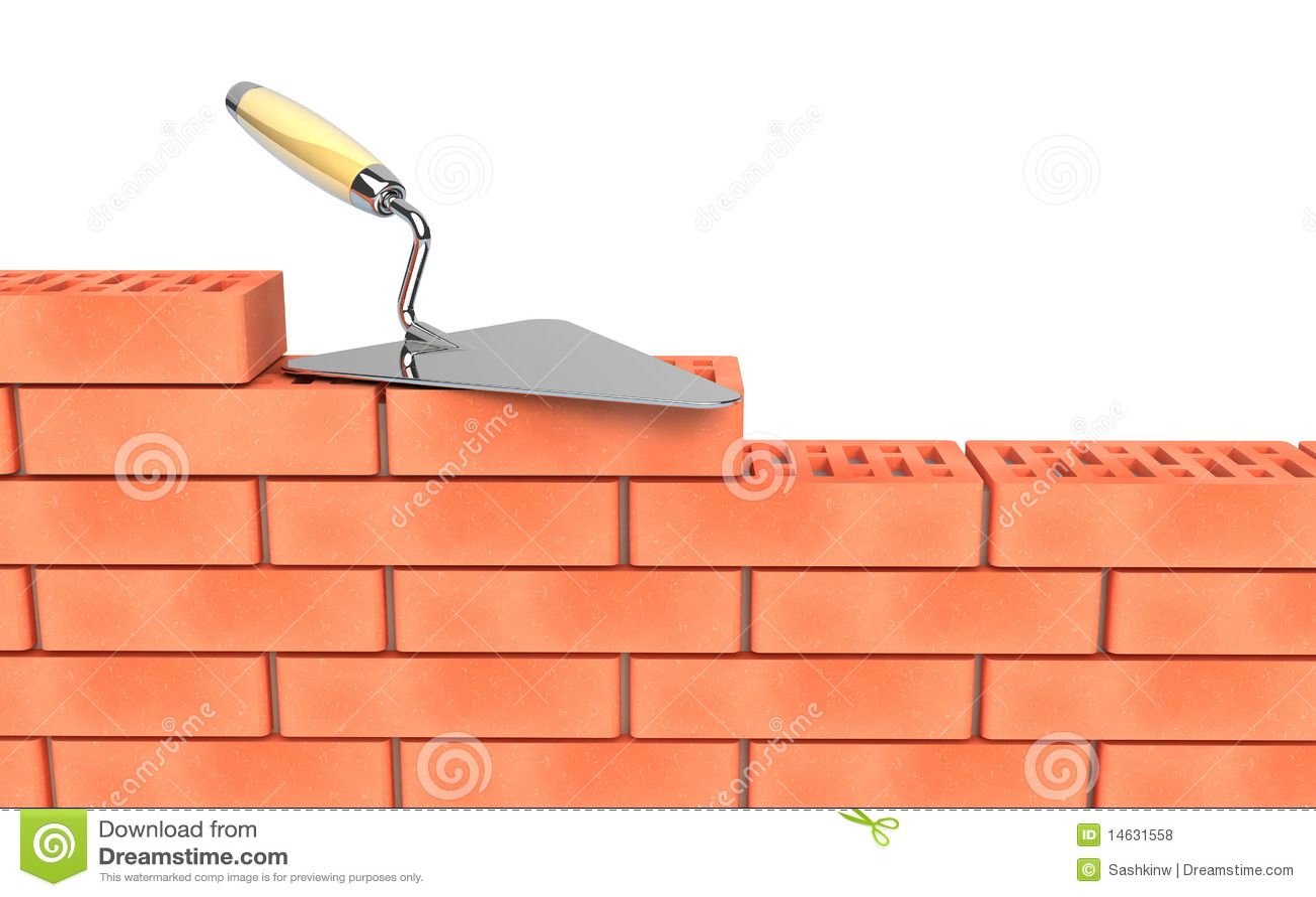 Construcci n de la paleta y de la pared de ladrillos stock for Construccion de piscinas con ladrillos