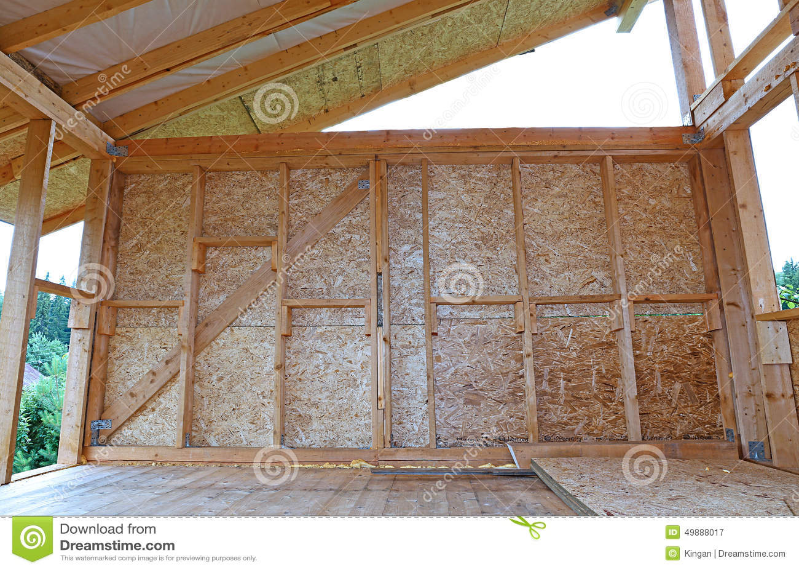 Construcci n de las paredes de madera del marco foto de - Paredes de madera ...