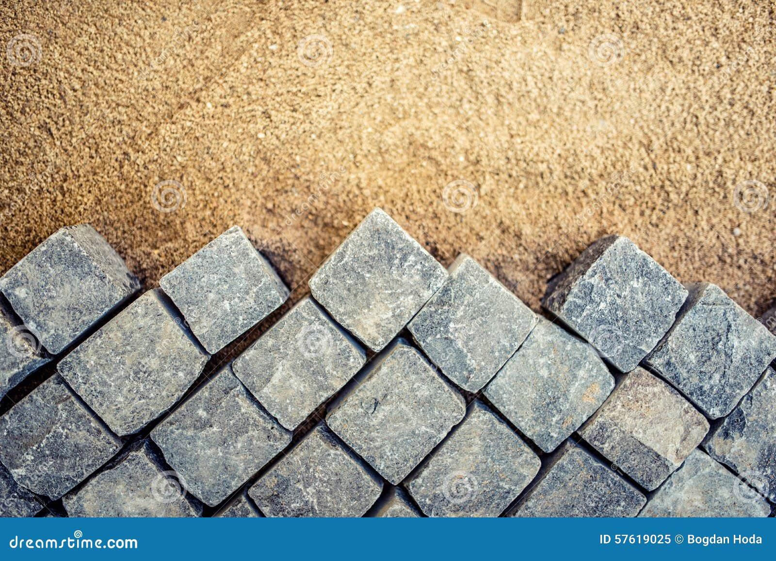 Construcci n de los detalles del pavimento pavimento del - Piedras para construccion ...
