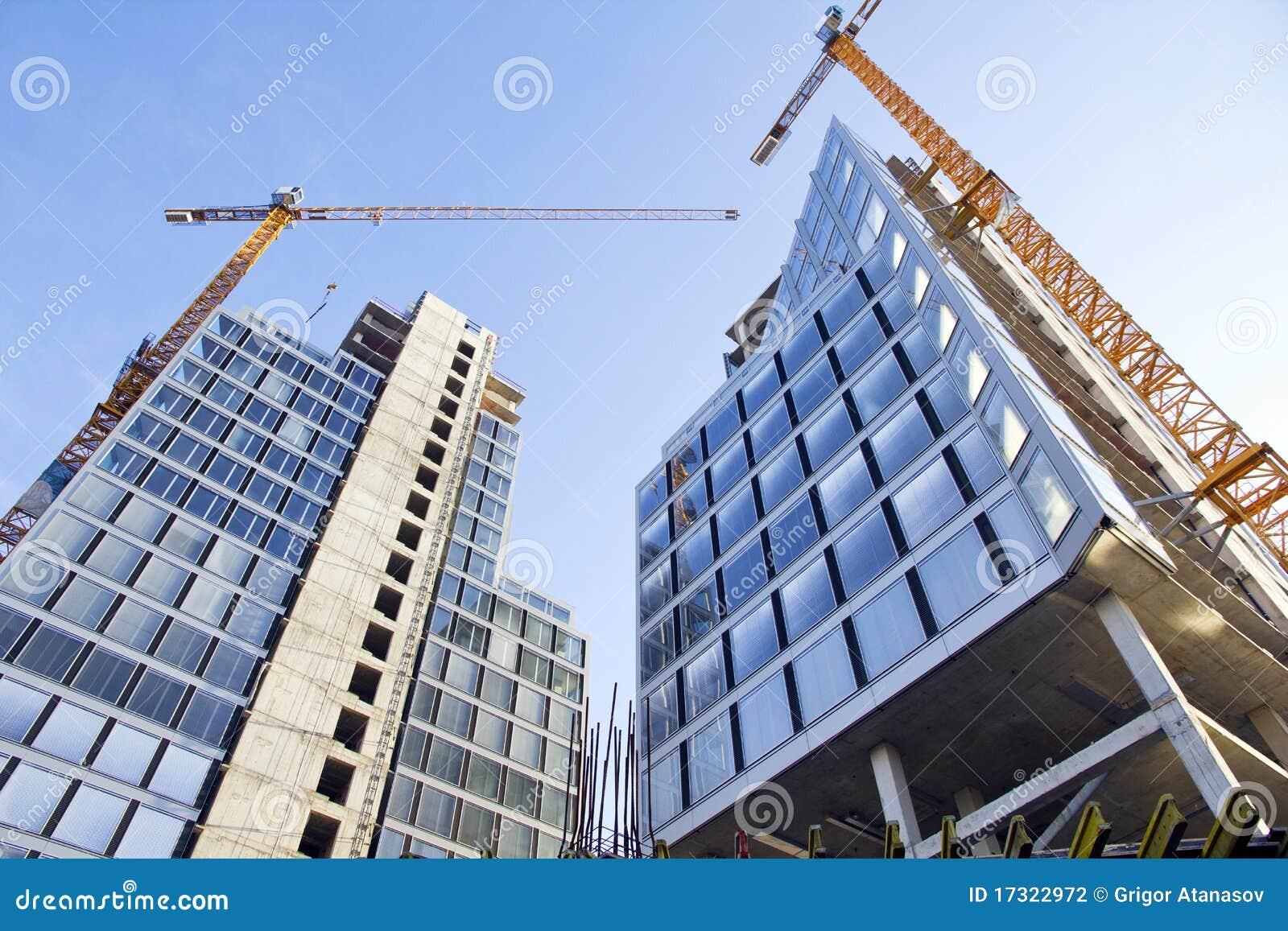 Construcci n de los edificios de oficinas fotograf a de for Construccion oficinas