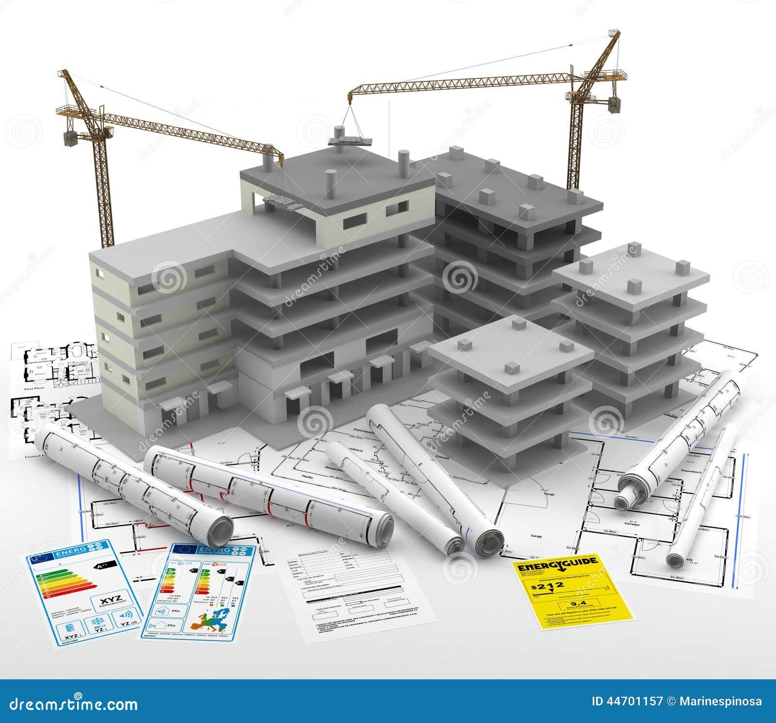 Construcci n de un edificio casas de las propiedades for Planos de construccion