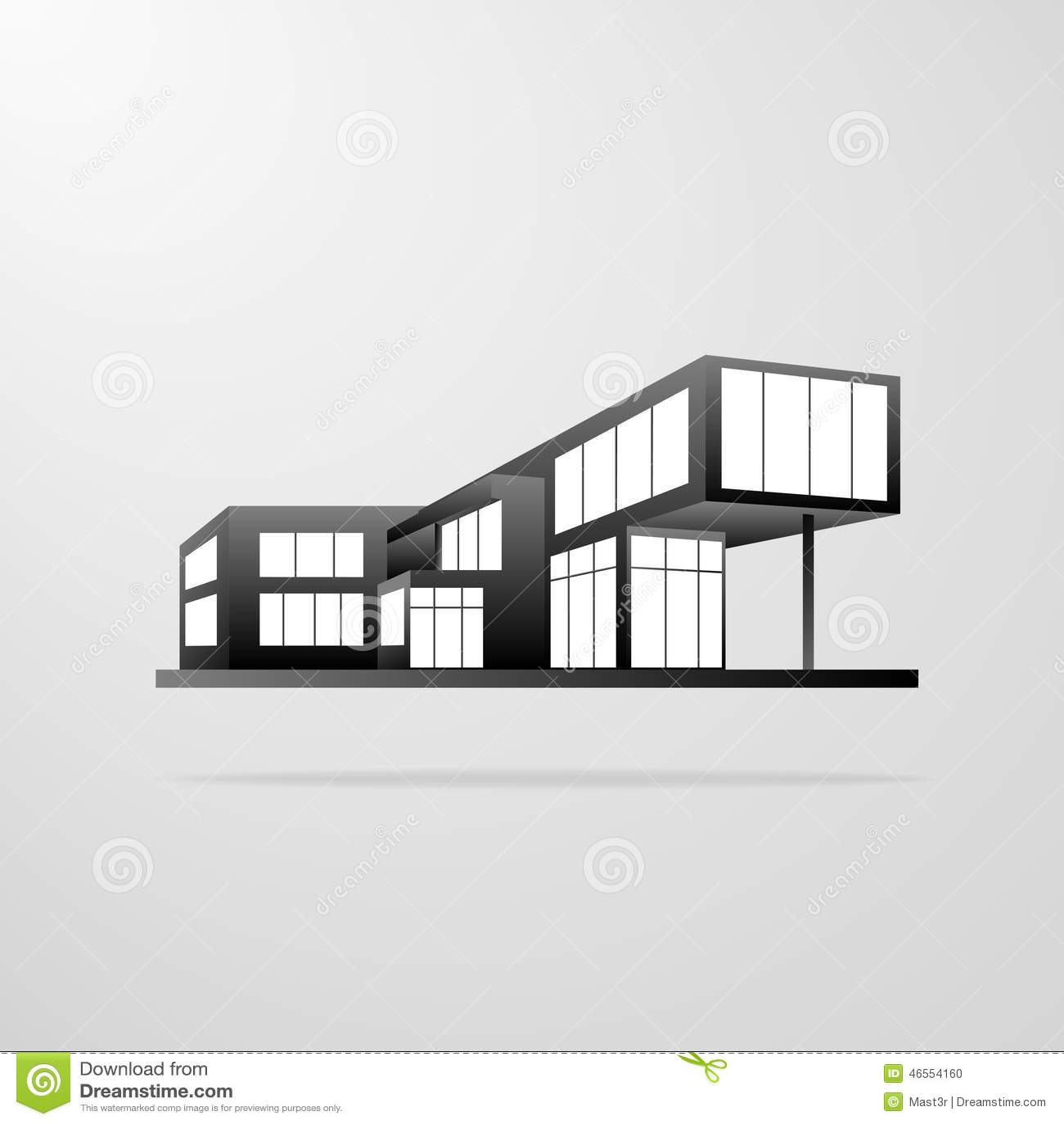 Construcci n de viviendas moderna icono de las for Casa moderna vector