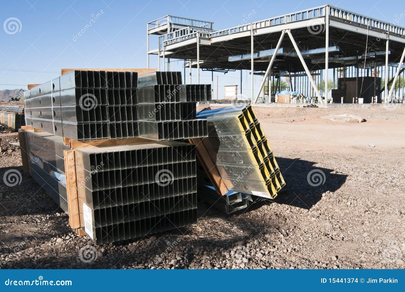 Construcción Del Acero Estructural Foto de archivo - Imagen de ...