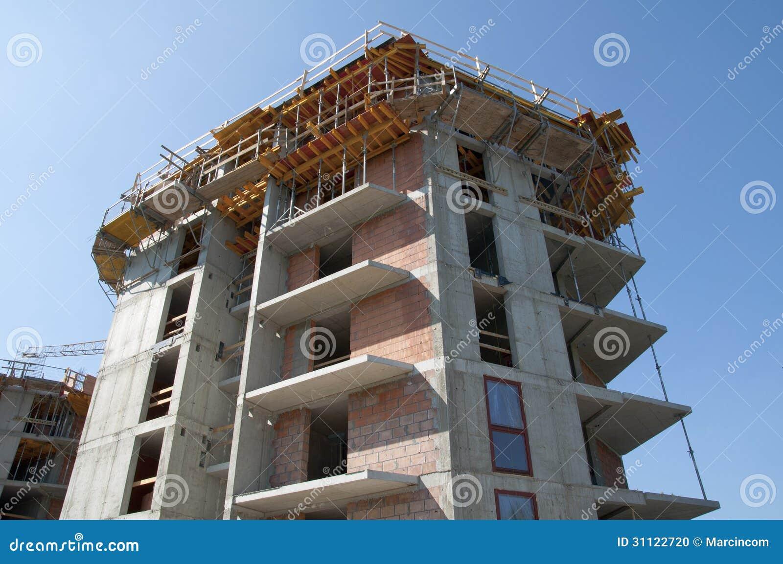Construcci n del edificio construcci n de una casa foto de archivo imagen de ladrillo - Construccion de una casa ...
