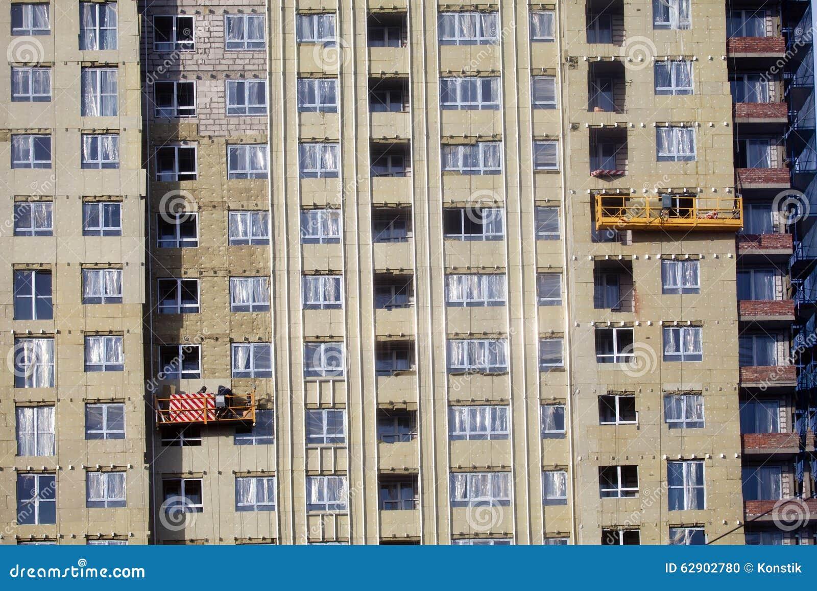 construccin del edificio los calientan los paneles de paredes exteriores