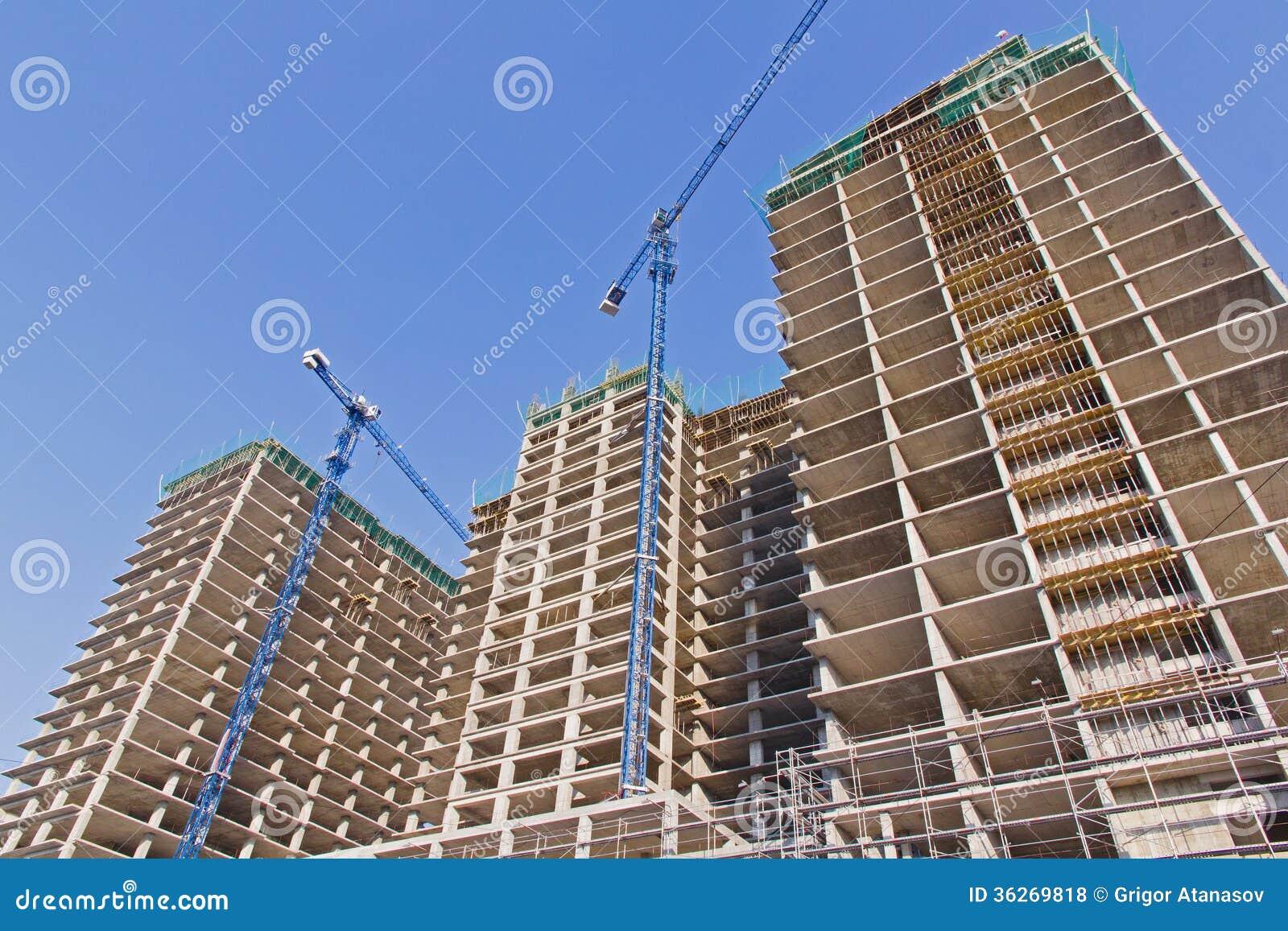 Construcción del edificios residenciales