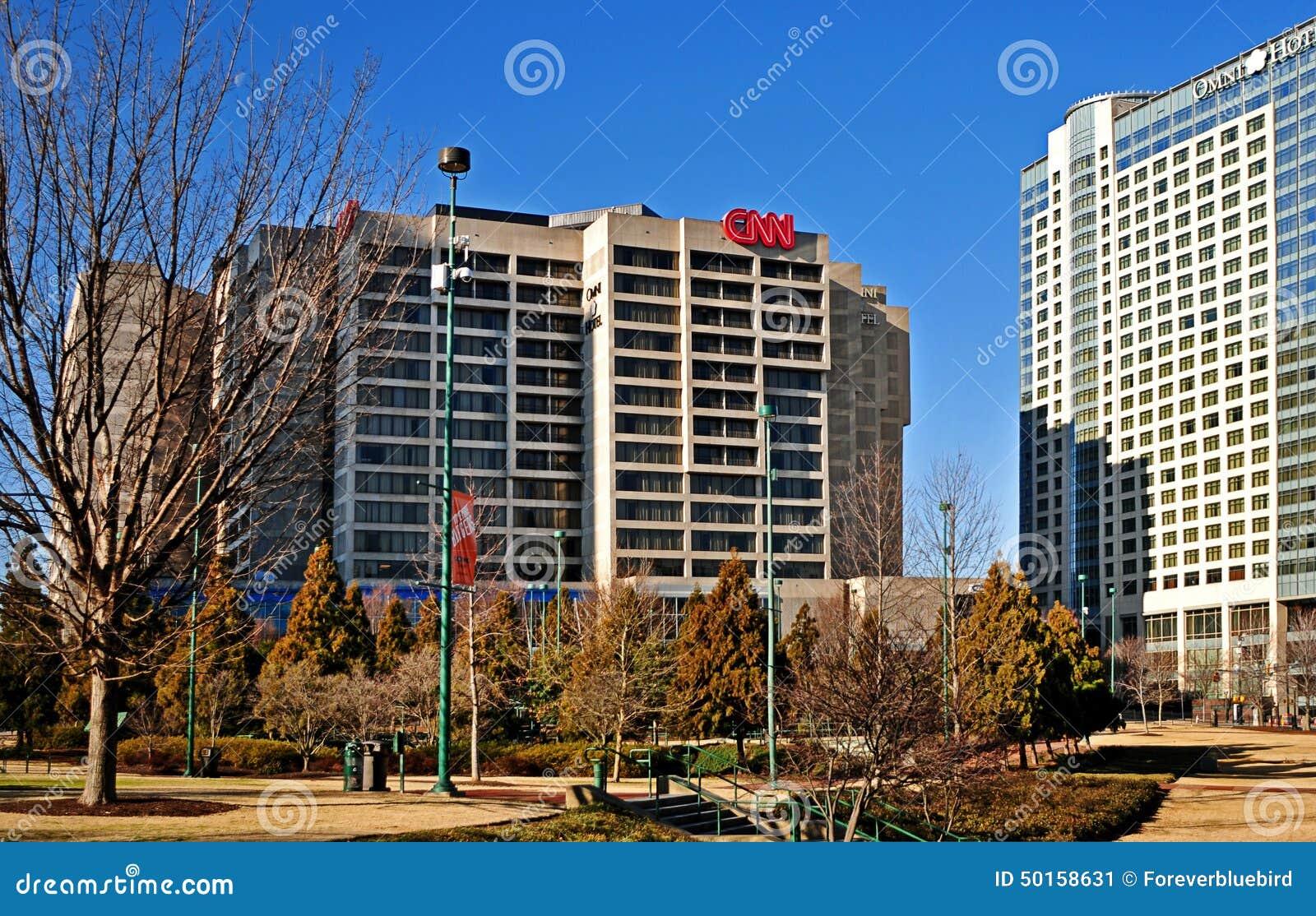Construcción global de centro de las jefaturas de CNN exterior en Atlanta Georgia los E.E.U.U.