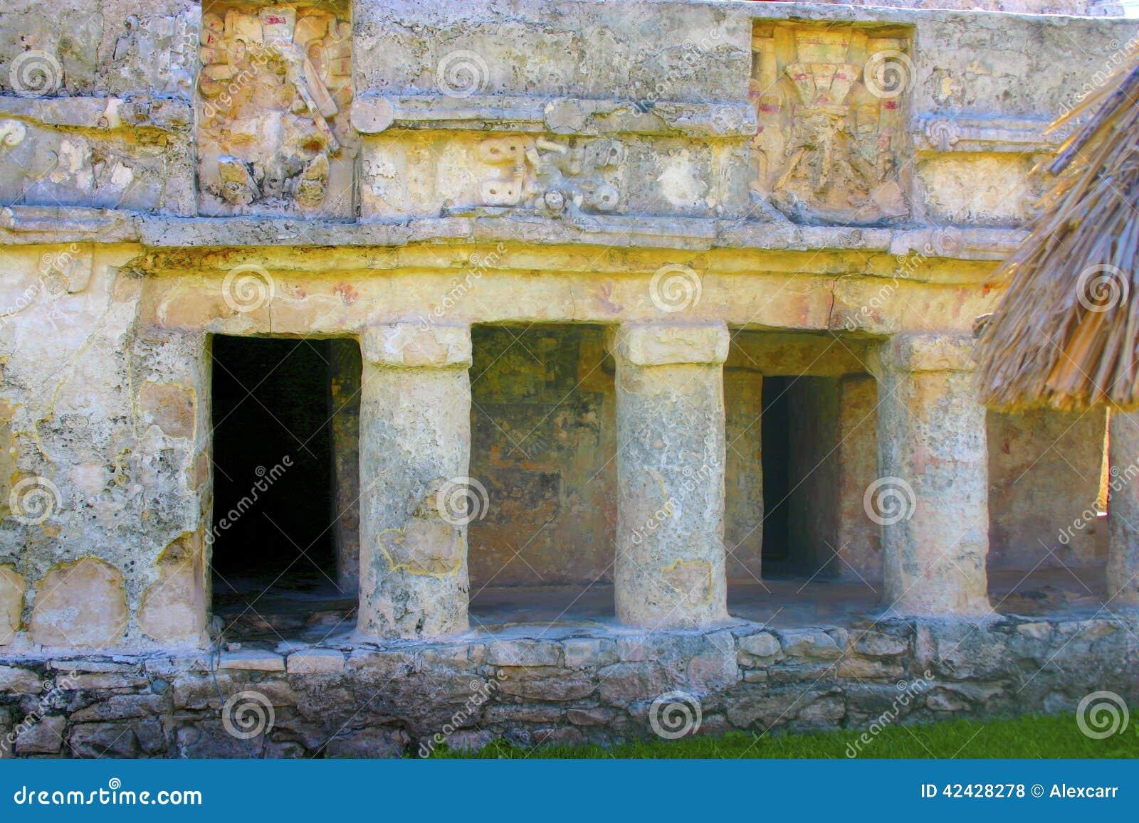 Construcción maya en Tulum México
