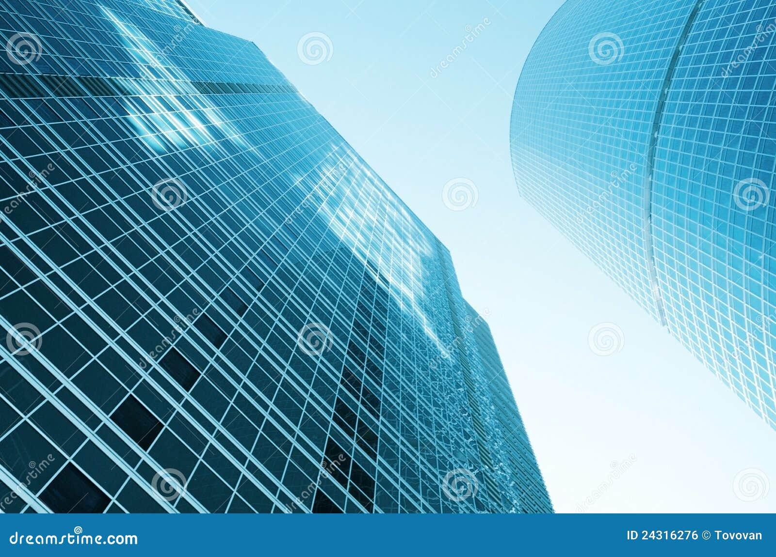 Construcciones de cristal modernas imagen de archivo libre for Construcciones modernas