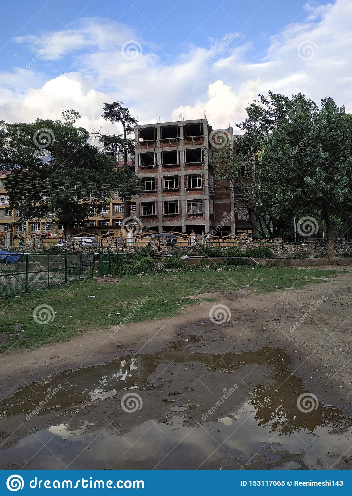 A constructing building