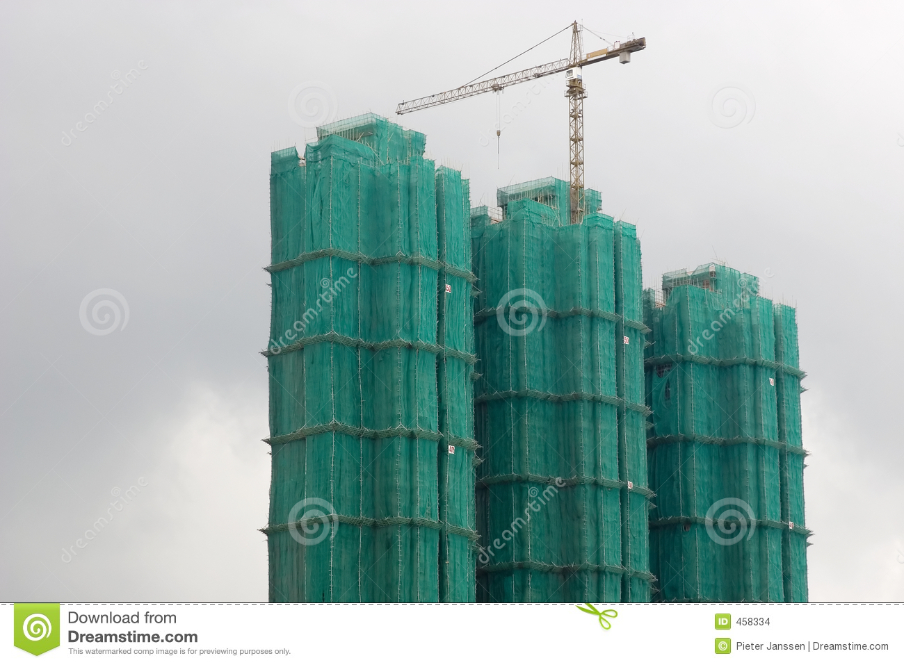 Constructing residential flats