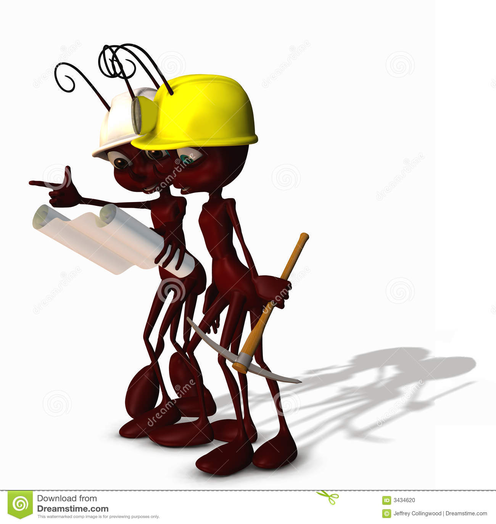Construction Ants 3 Stock Illustration. Illustration Of
