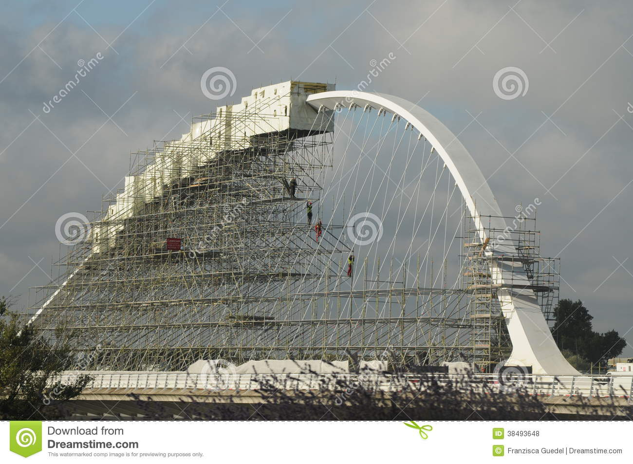 Construction At An Arch Bridge Editorial Stock Photo